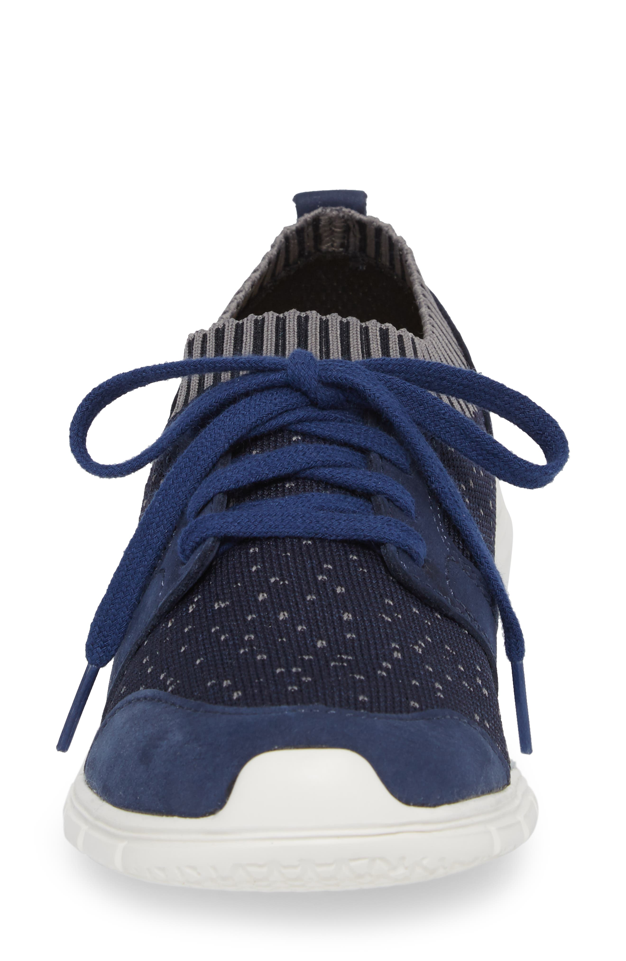 Cypress Knit Sneaker,                             Alternate thumbnail 4, color,                             Royal Navy Fabric