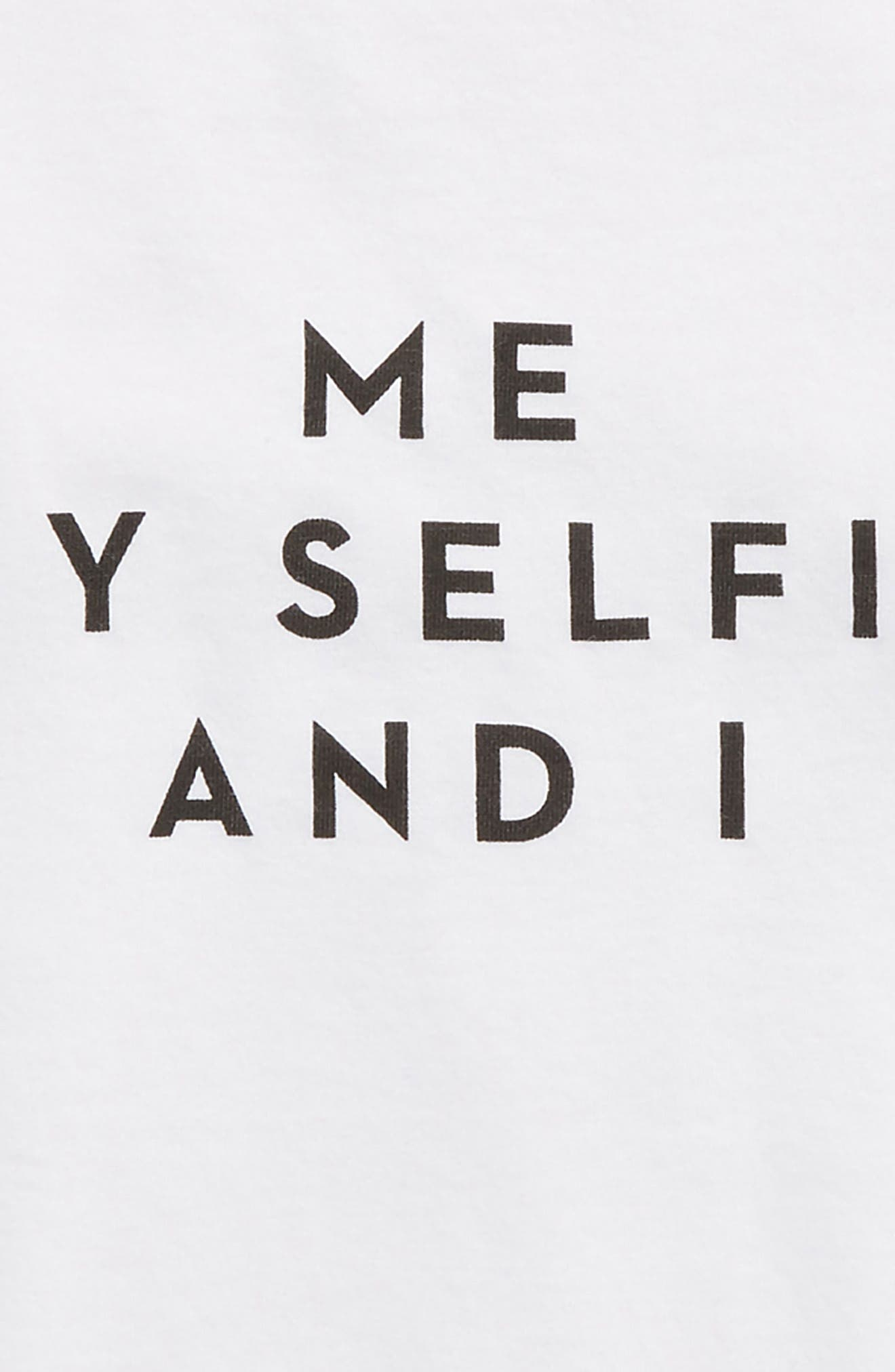 Me, My Selfie and I Tee,                             Alternate thumbnail 2, color,                             White