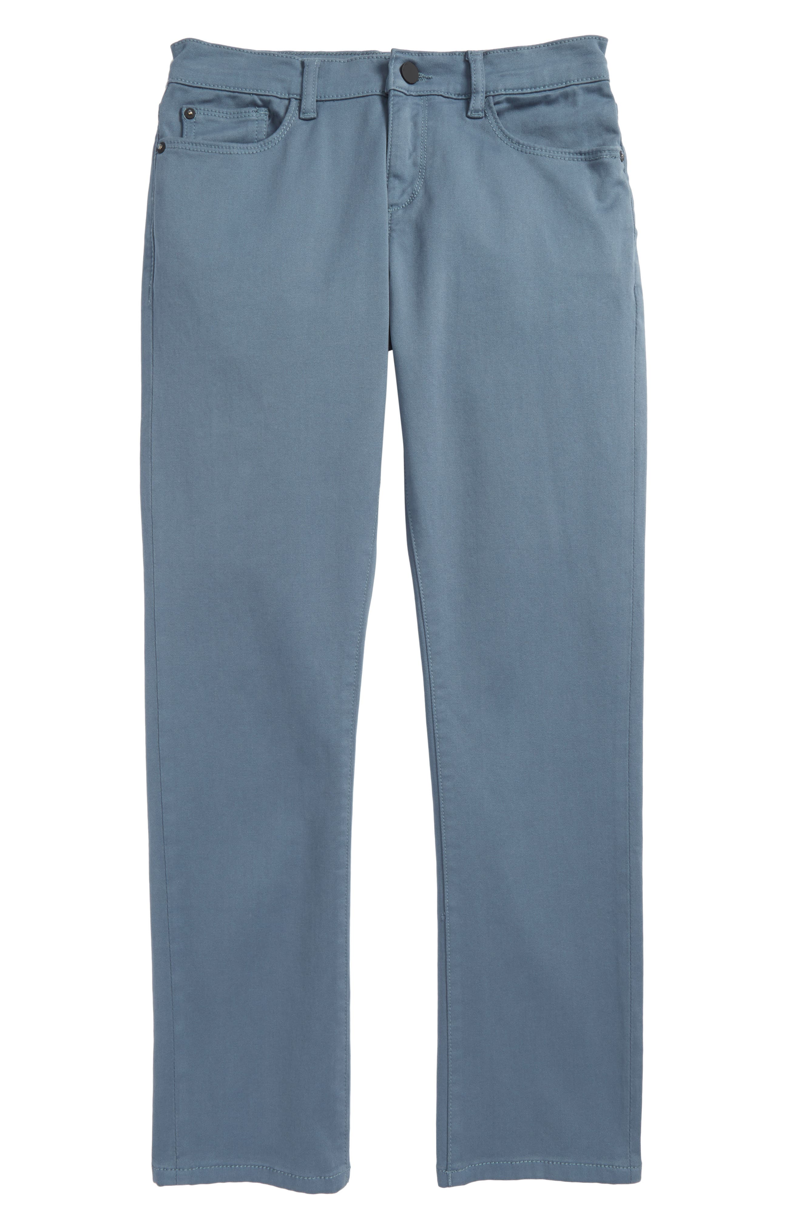 Brady Slim Fit Twill Pants,                         Main,                         color, Puddle