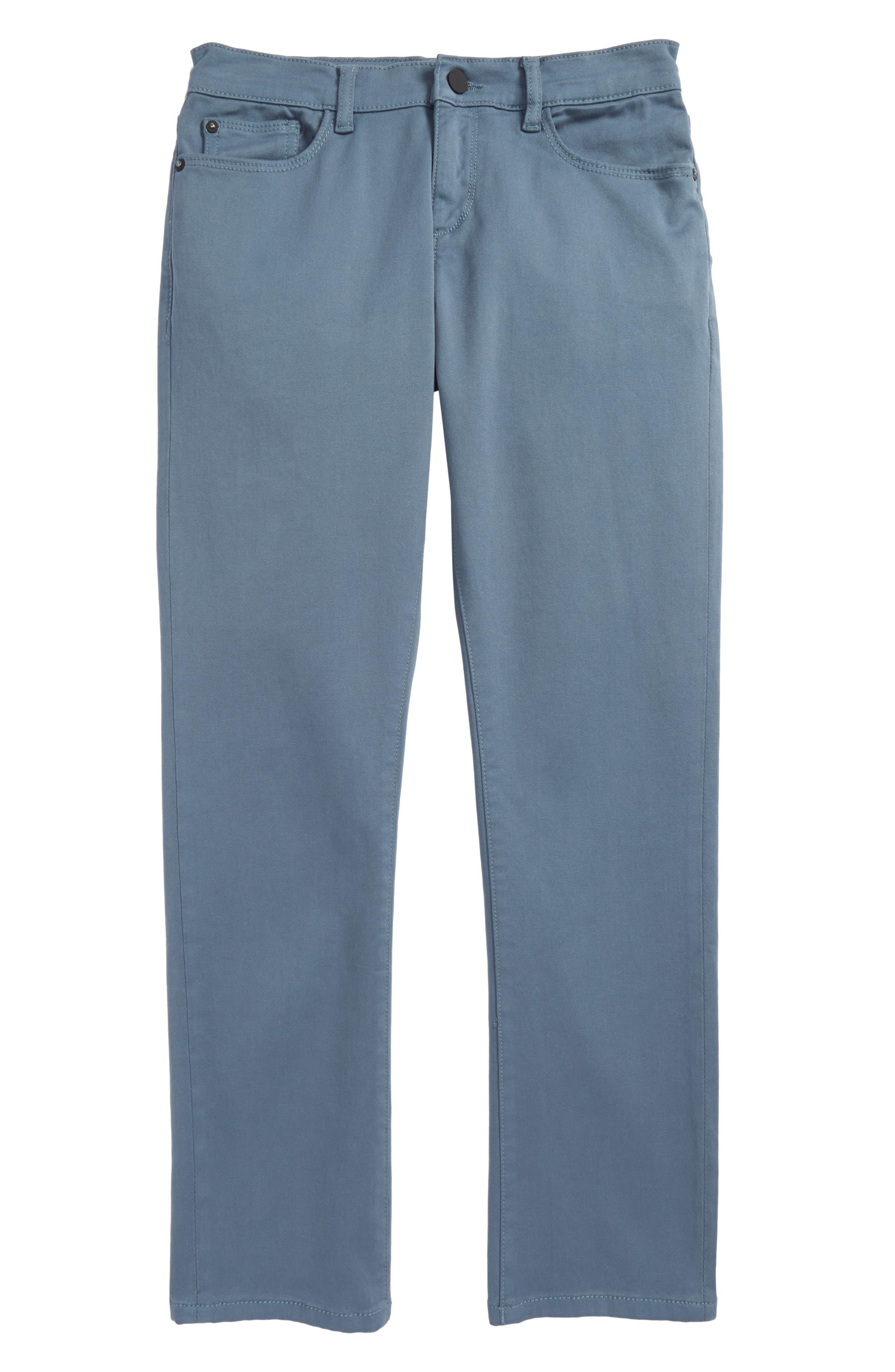 DL1961 Brady Slim Fit Twill Pants (Big Boys)