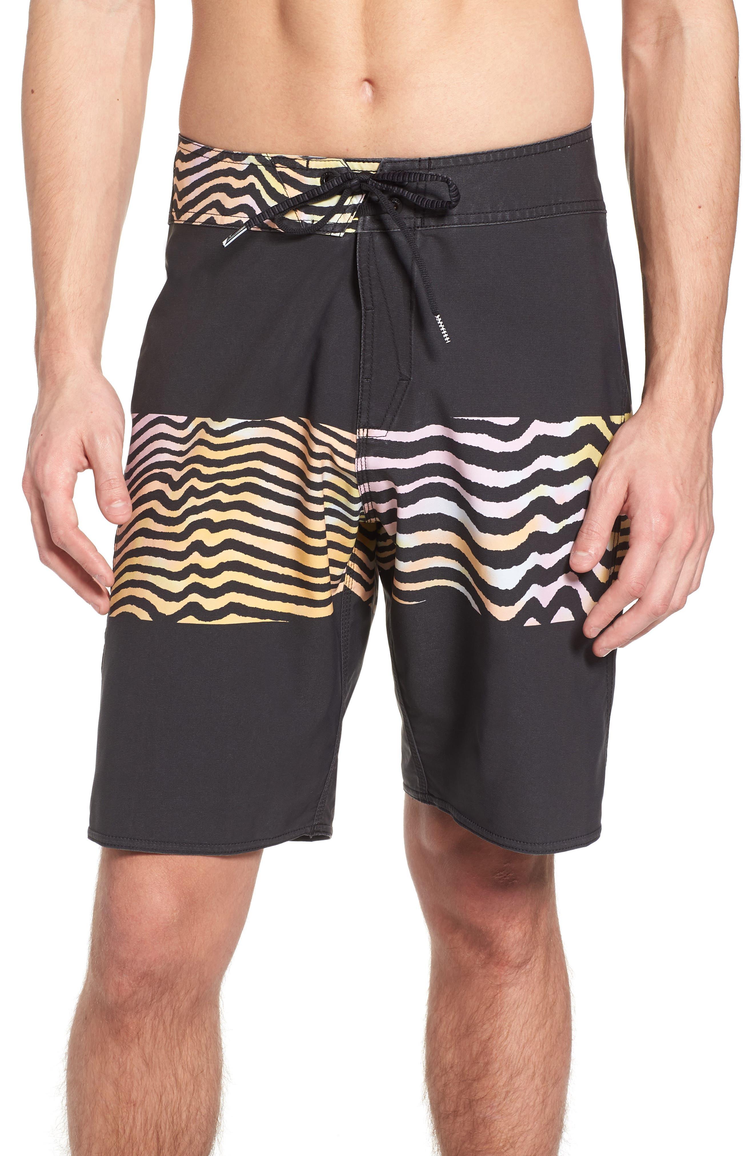 Macaw Faded Mod Board Shorts,                         Main,                         color, Multi
