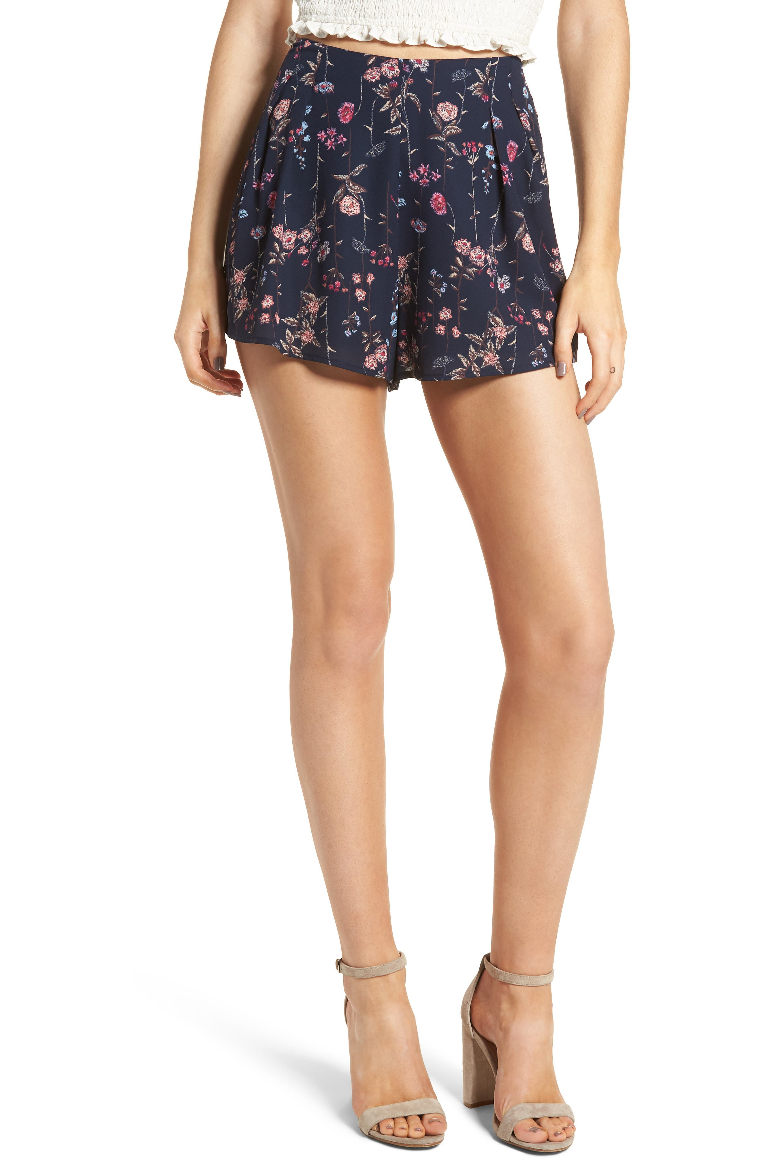 Main Image - Pleat Front High Waist Shorts