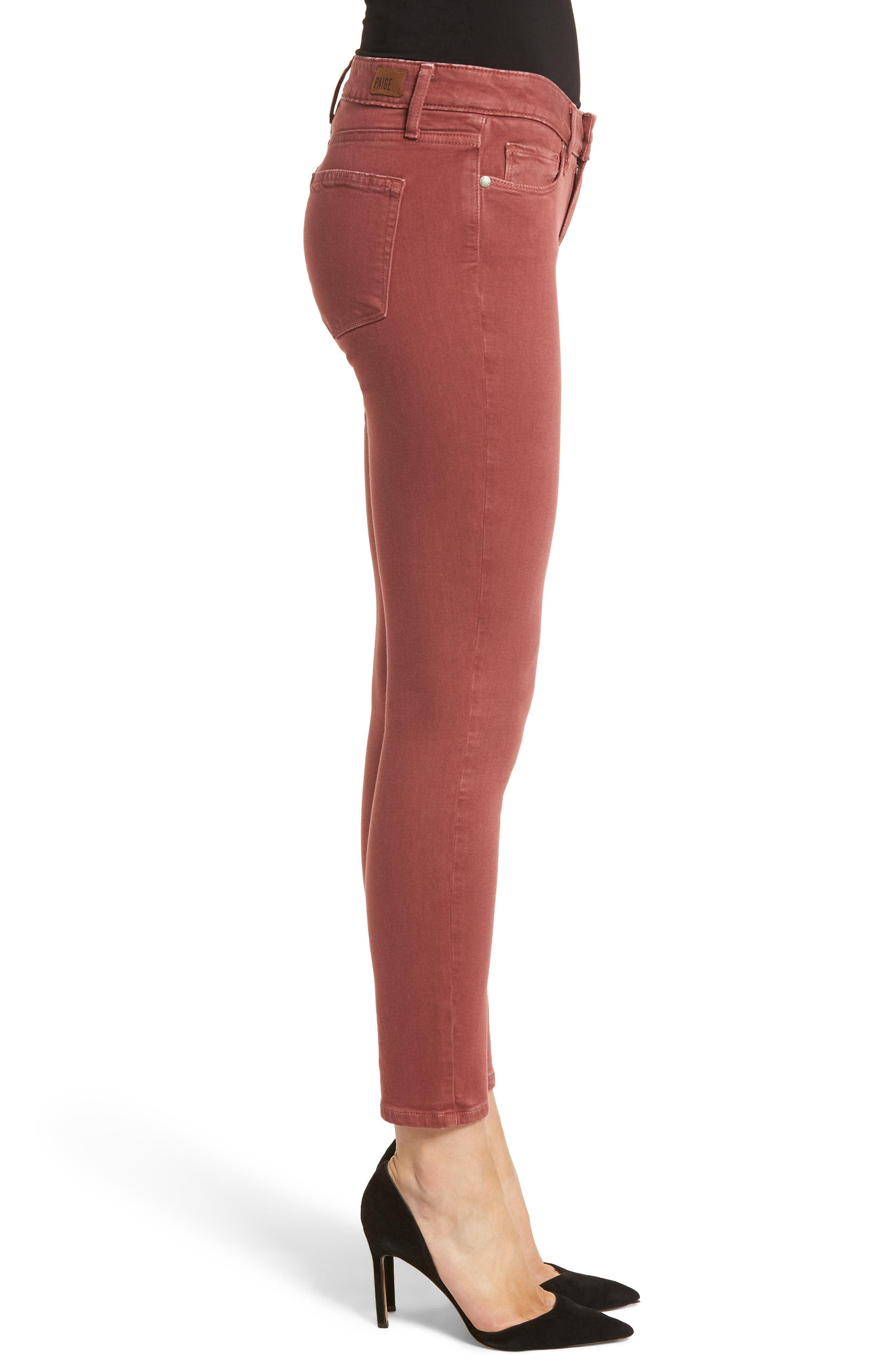 Alternate Image 3  - PAIGE Verdugo Ankle Ultra Skinny Jeans (Vintage Dark Rose)