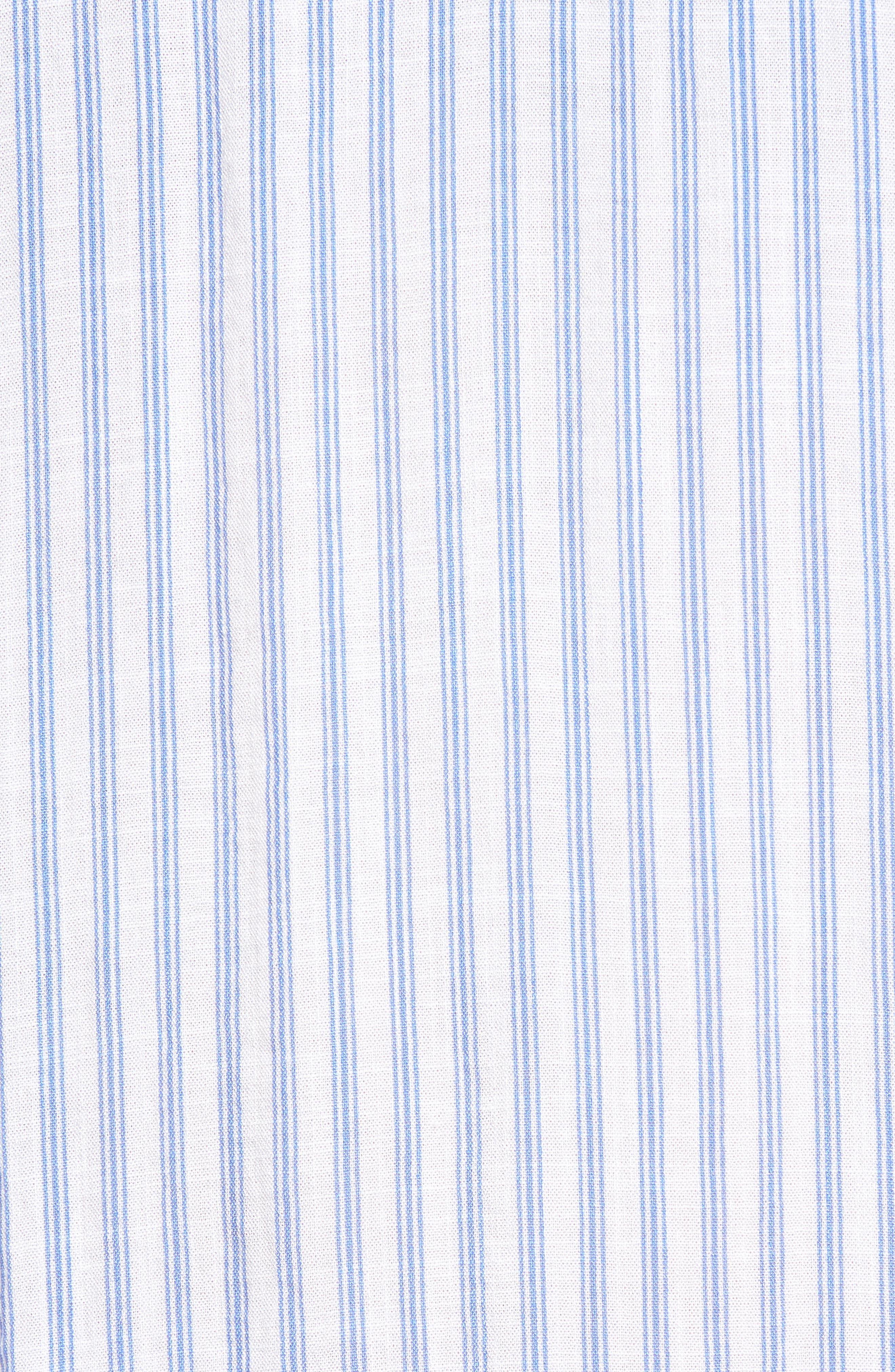 Bishop + Young Stripe Tunic Top,                             Alternate thumbnail 6, color,                             Blue White Stripe