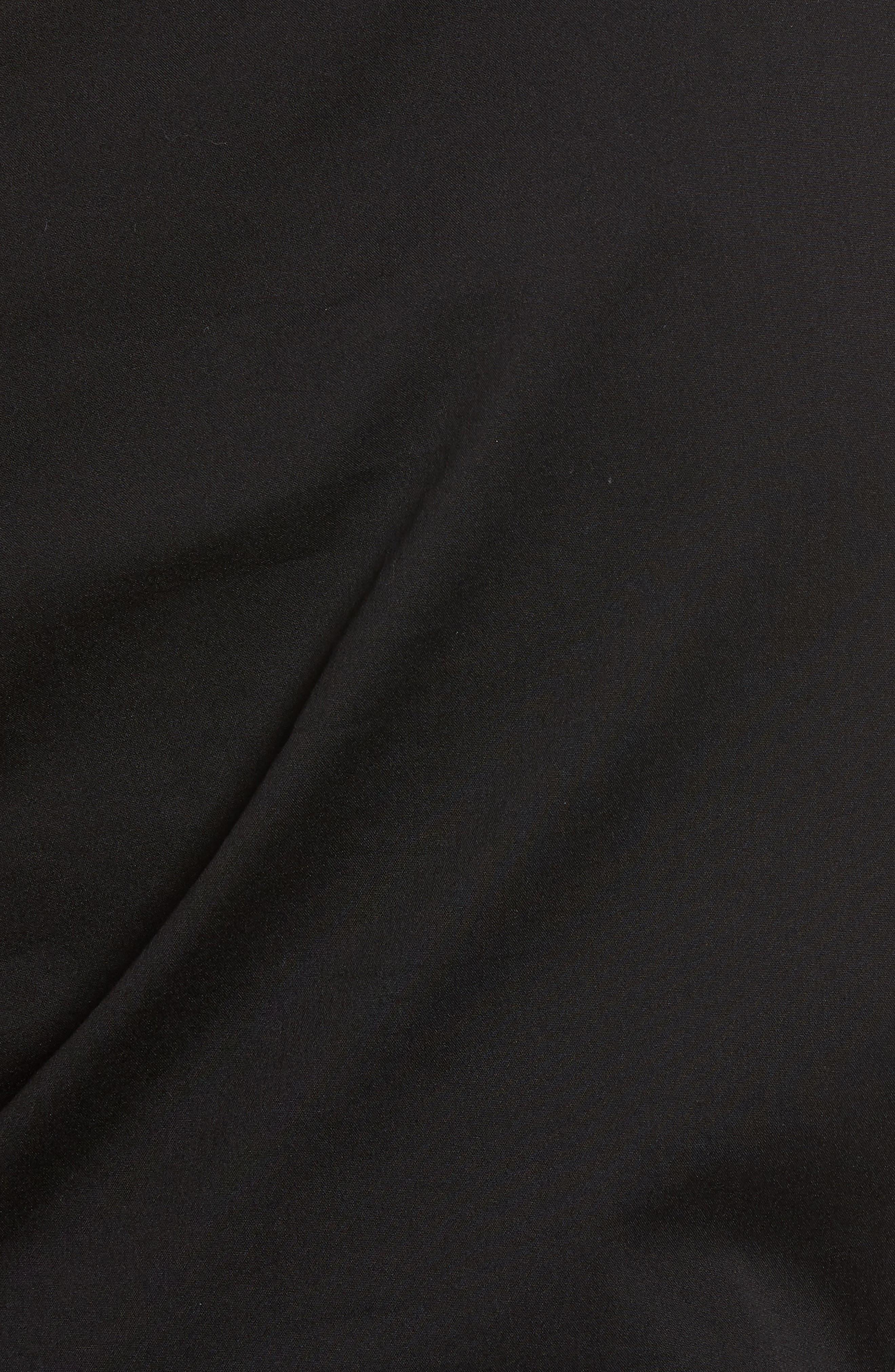Bishop + Young Belted One-Shoulder Blouse,                             Alternate thumbnail 6, color,                             Black