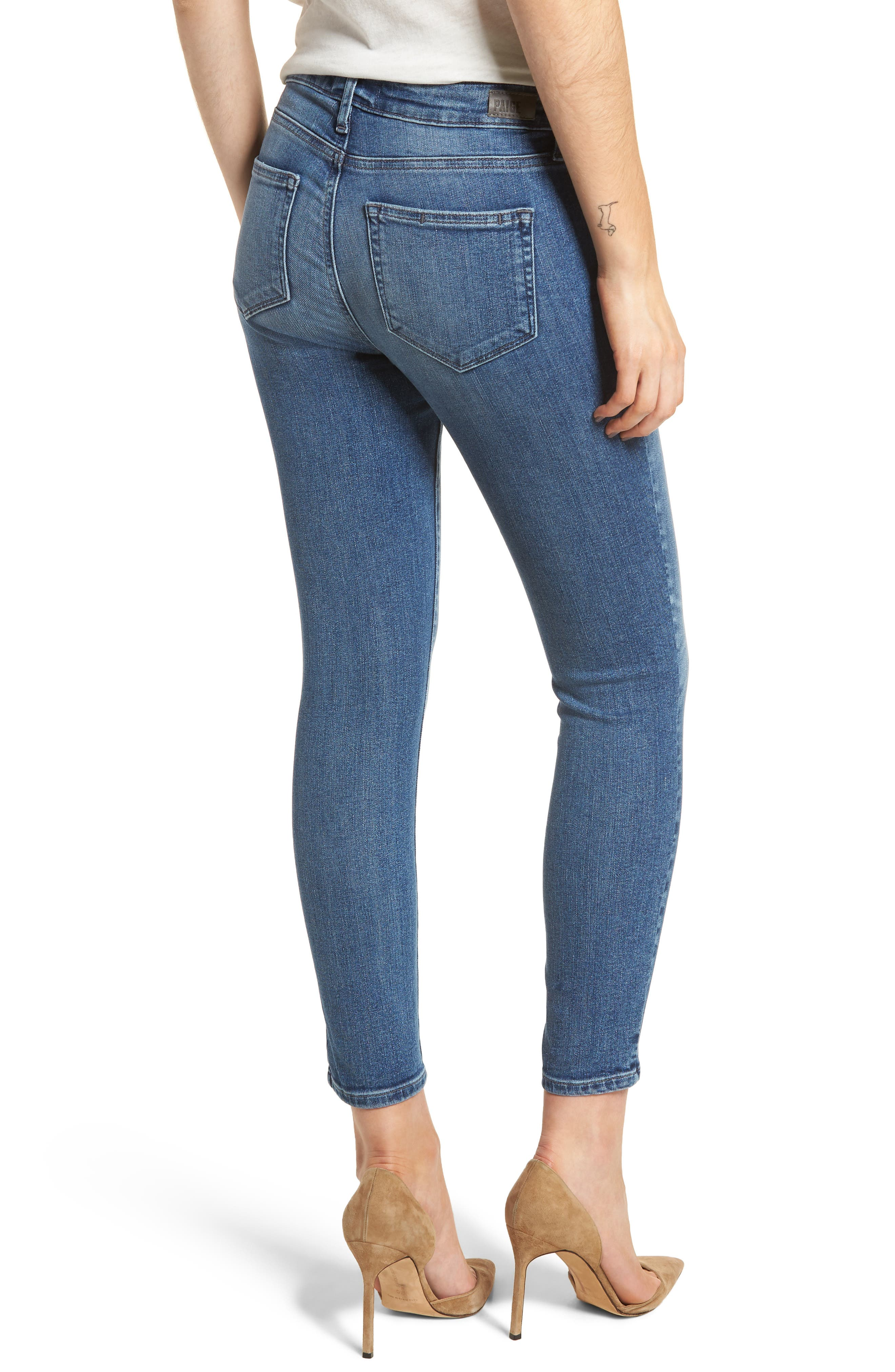 Transcend Vintage - Verdugo Crop Ultra Skinny Jeans,                             Alternate thumbnail 2, color,                             Bloomfield