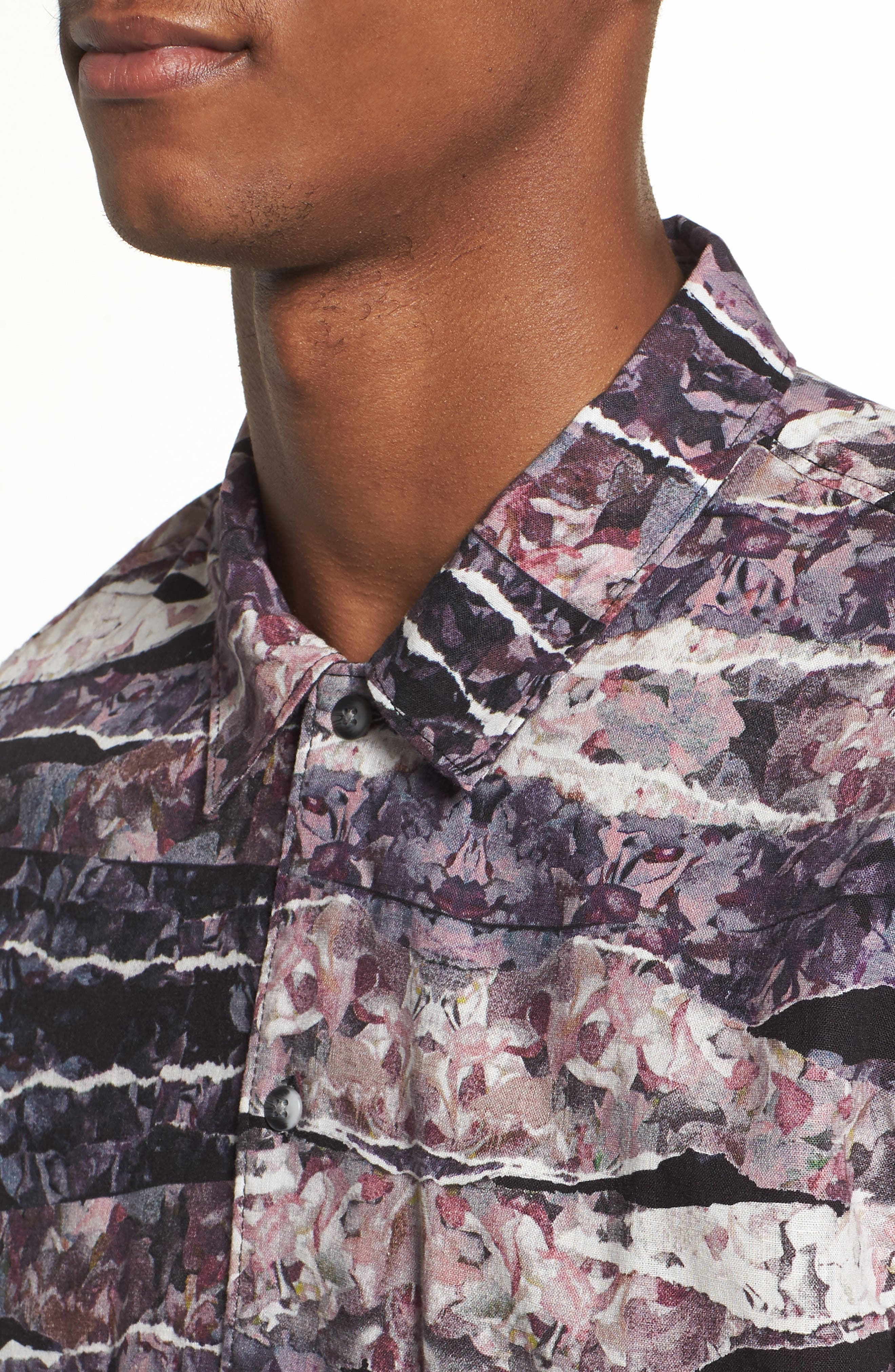 Shoto Short Sleeve Shirt,                             Alternate thumbnail 4, color,                             Floral Day