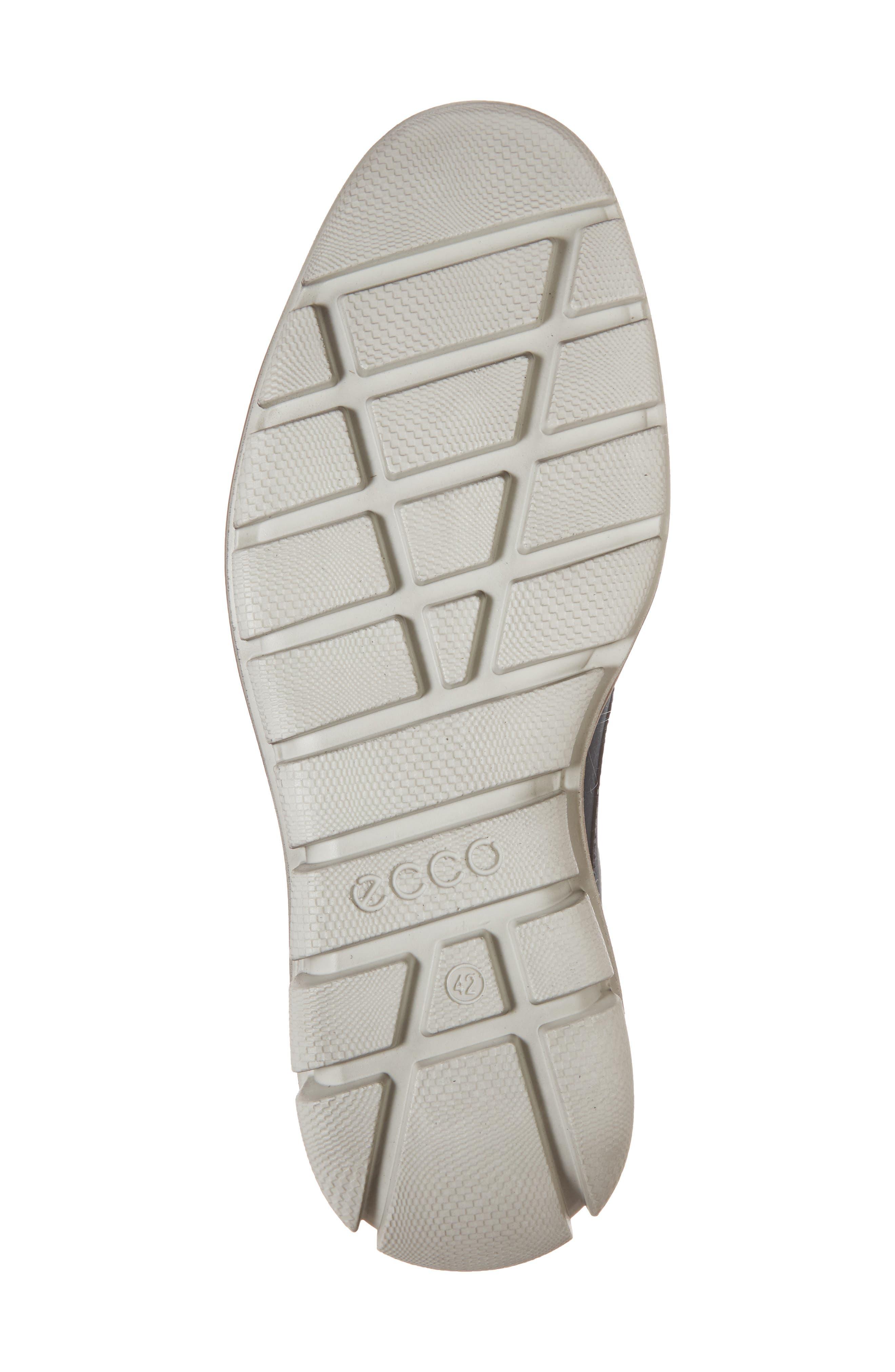 Jeremy Hybrid Plain Toe Derby,                             Alternate thumbnail 6, color,                             Navy Leather