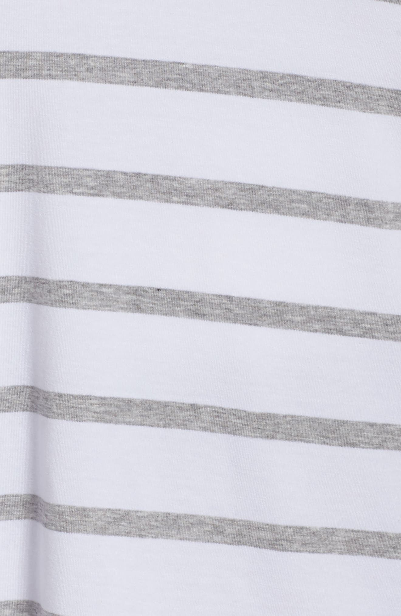 Stripe Stretch Tencel<sup>®</sup> Lyocell Top,                             Alternate thumbnail 6, color,                             White/ Dark Pearl
