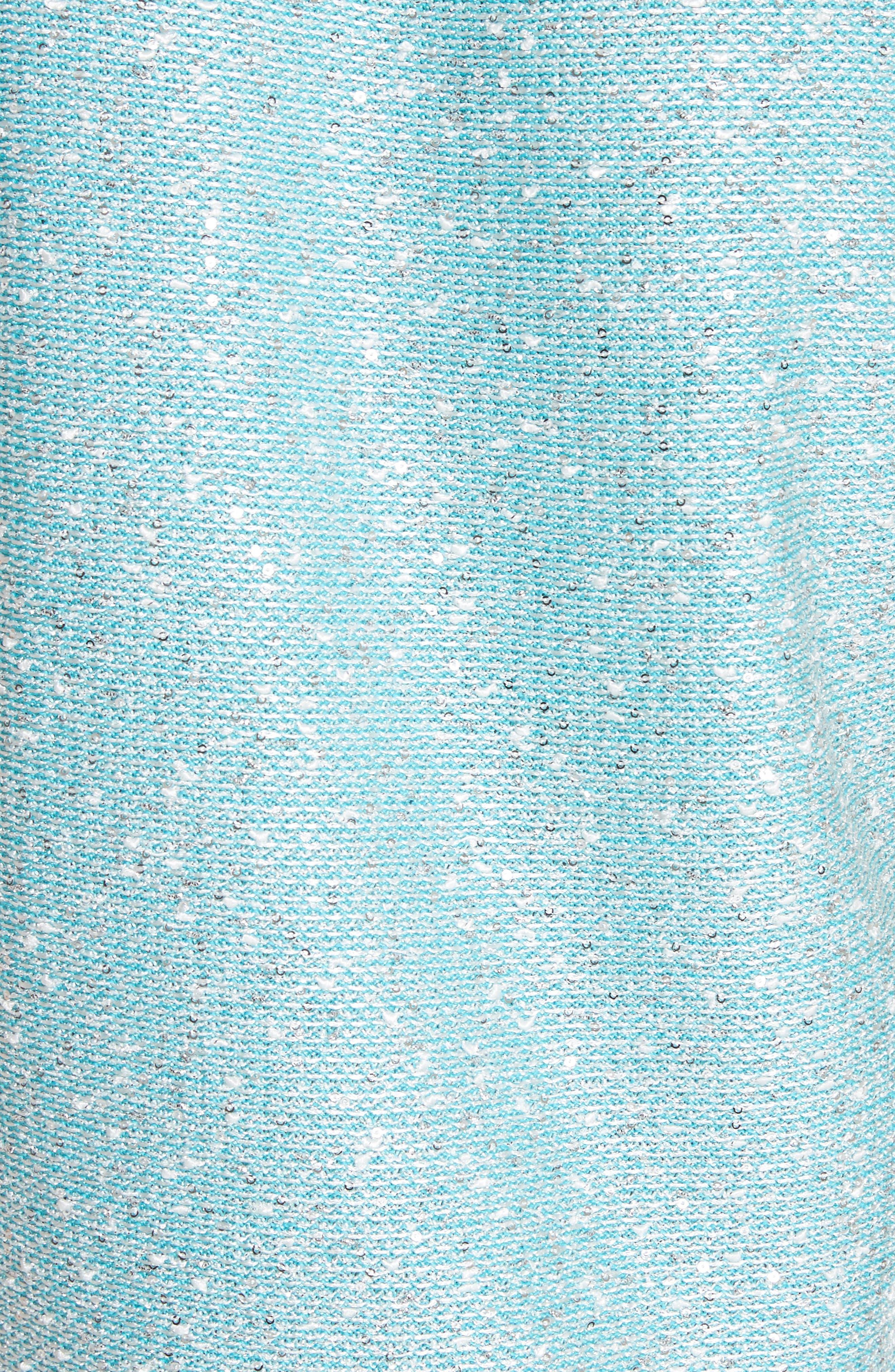 Flecked Sparkle Knit Shell,                             Alternate thumbnail 5, color,                             Aqua Multi