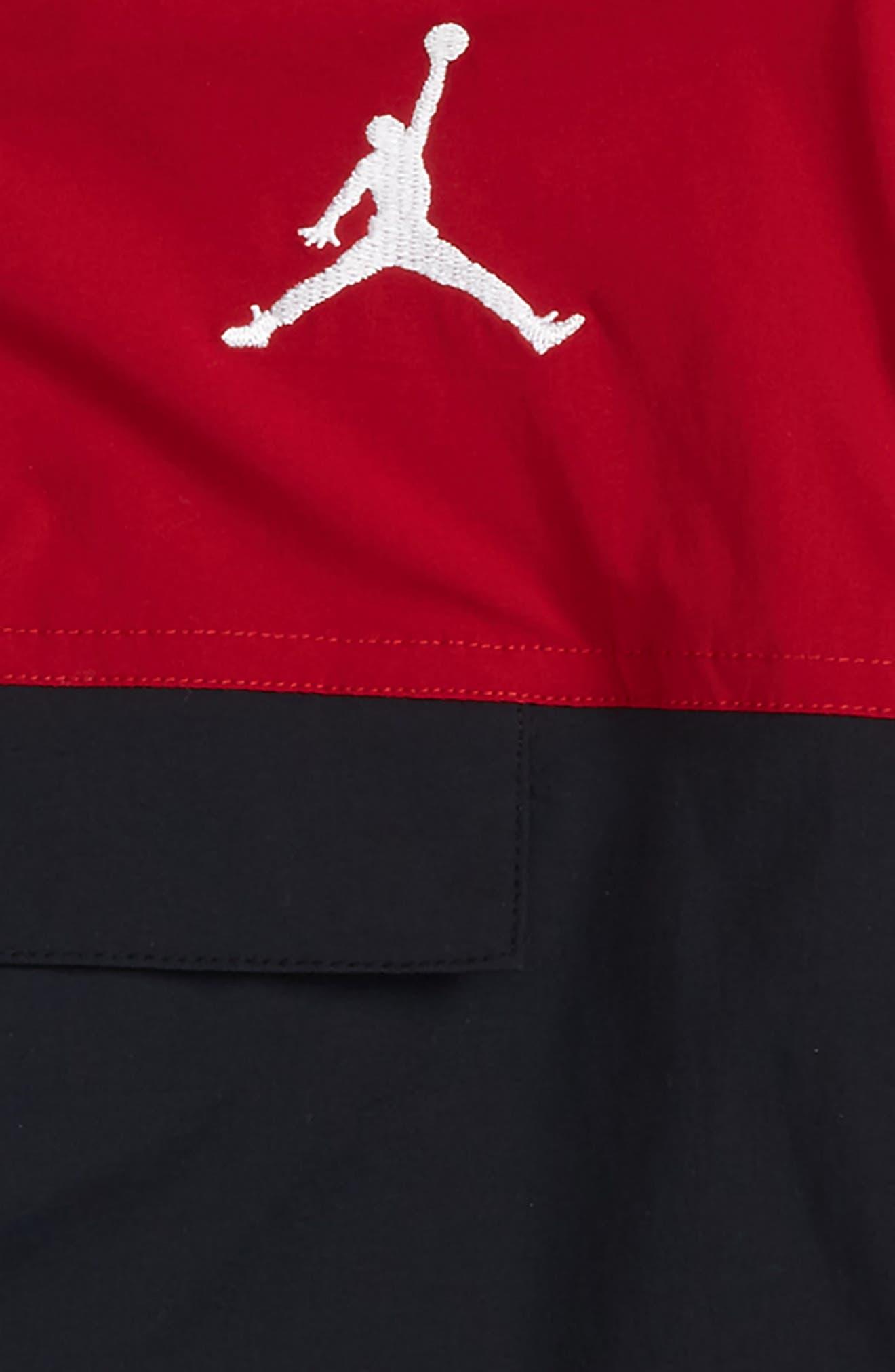 Jordan AJ '90s Popover Quarter Zip Pullover,                             Alternate thumbnail 3, color,                             Black
