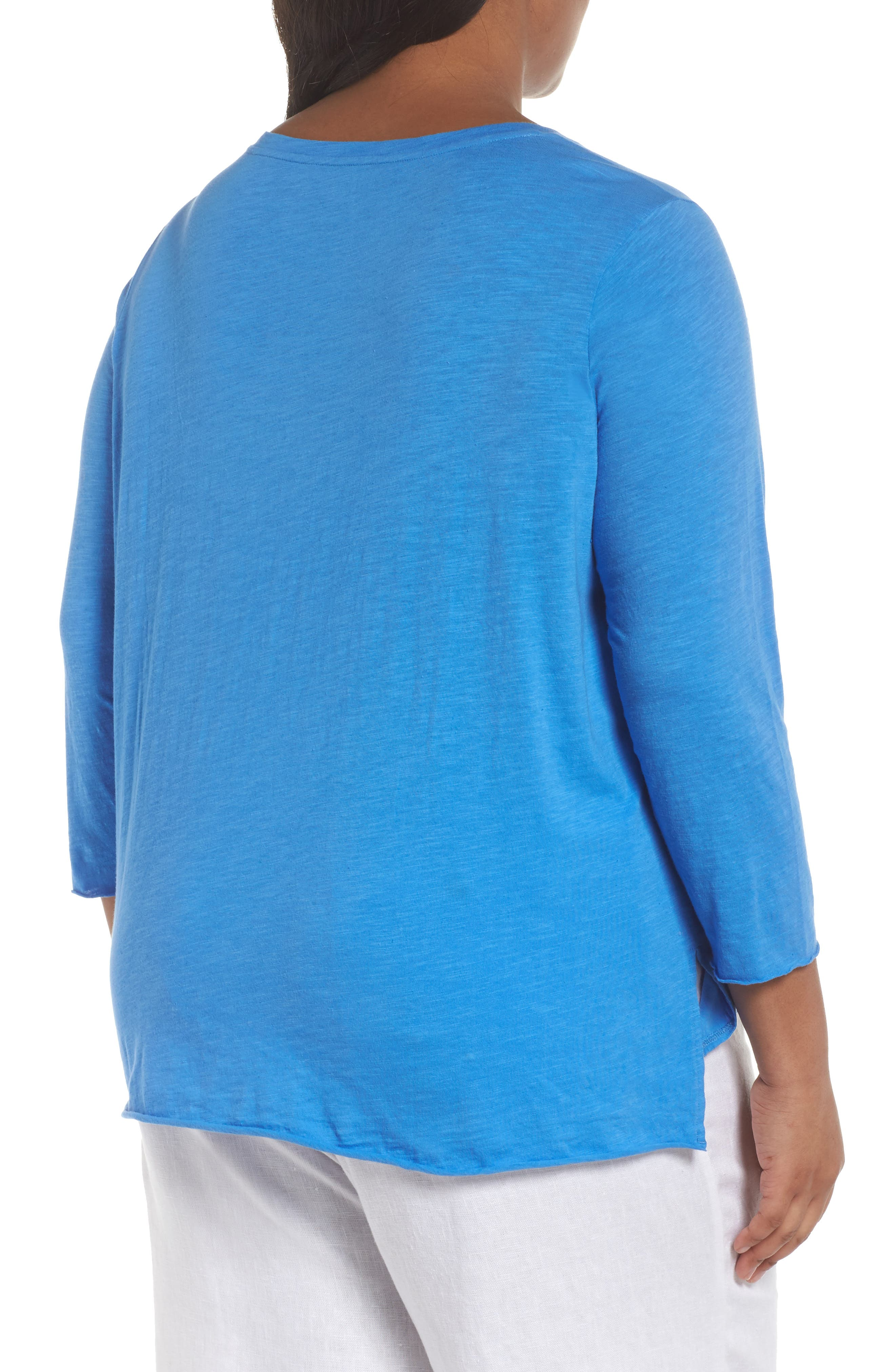 Round Neck Tunic,                             Alternate thumbnail 2, color,                             Blue Bell
