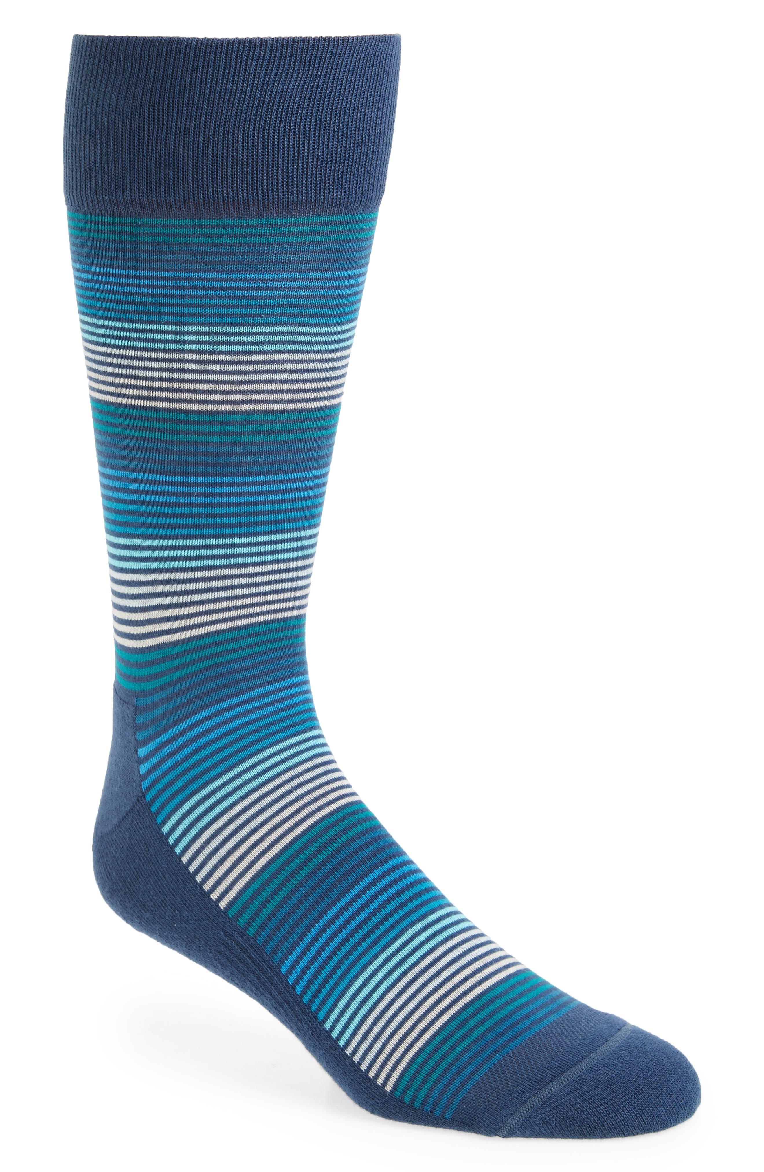 Nordstrom Men's Shop Gradient Feeder Stripe Socks (3 for $30)