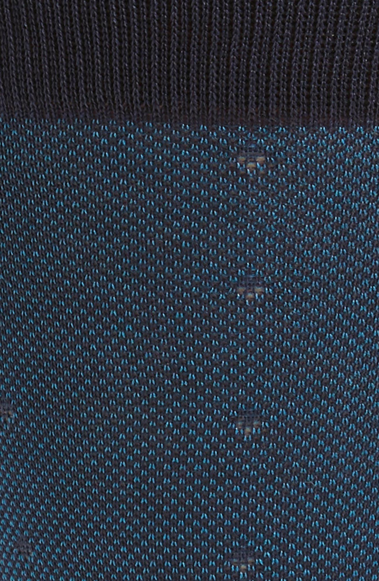 Mercerized Piqué Dot Socks,                             Alternate thumbnail 2, color,                             Navy/ Blue