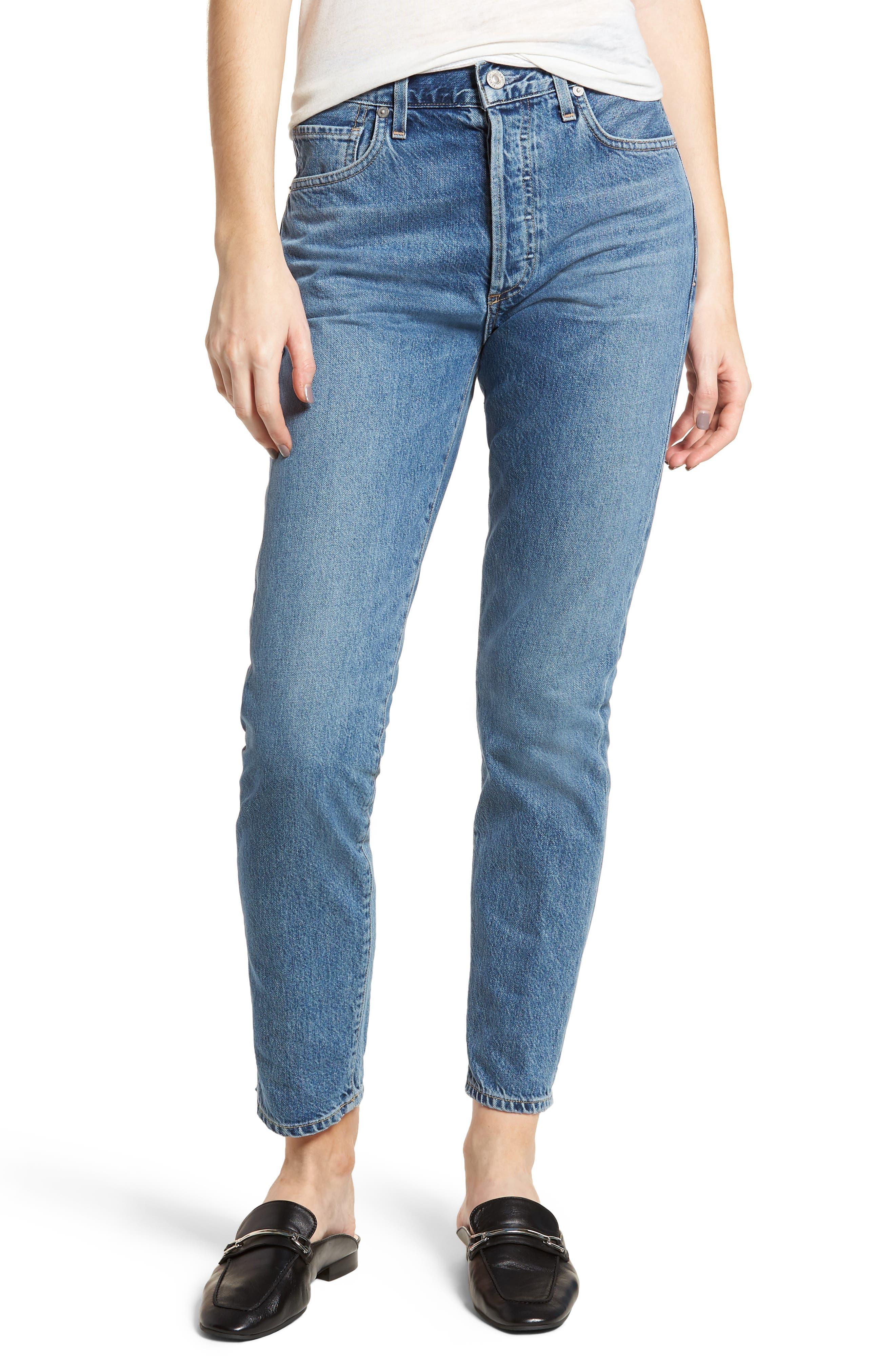 Liya High Waist Slim Boyfriend Jeans,                             Main thumbnail 1, color,                             Admire