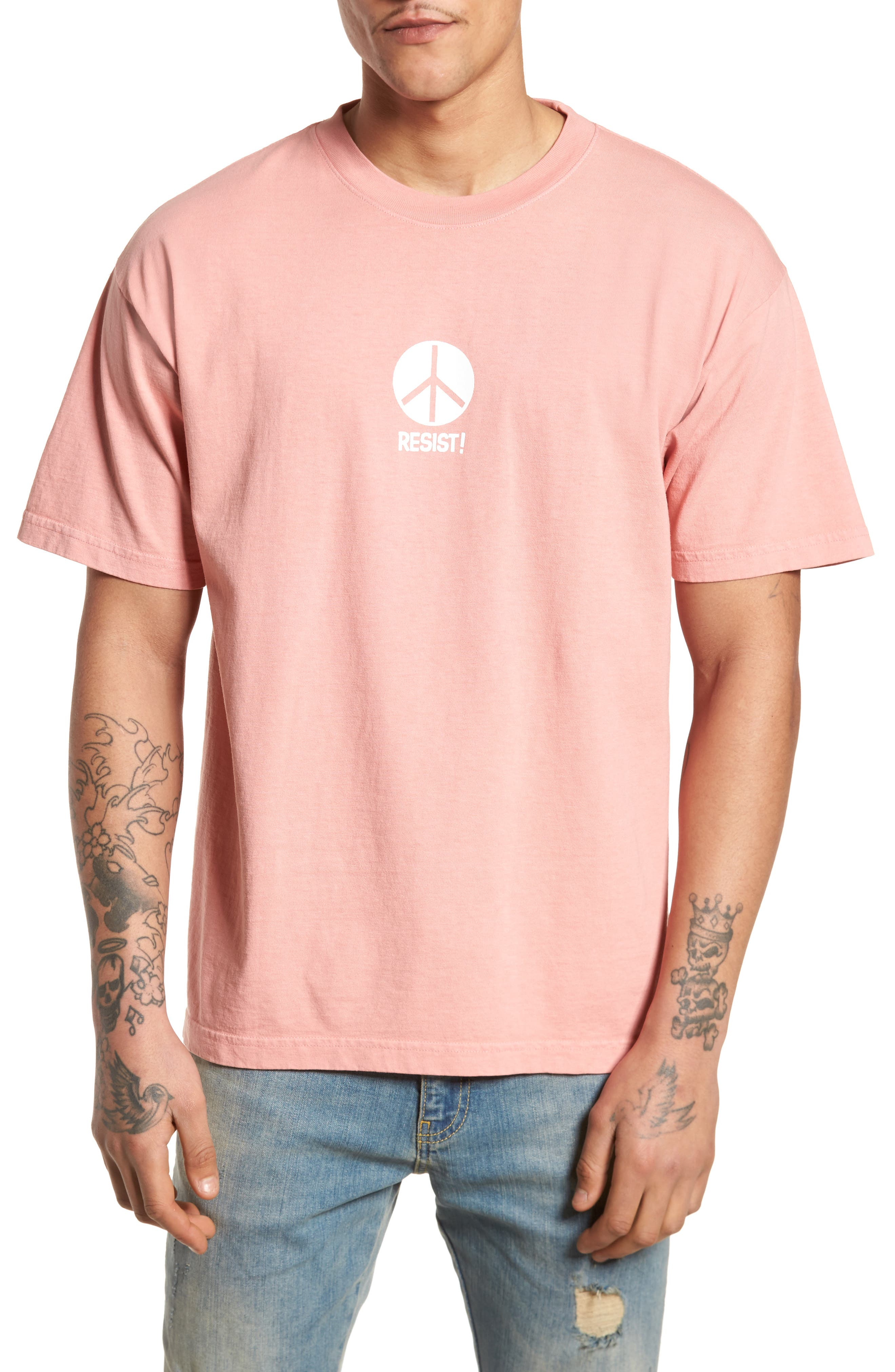 The Next Wave Boxy T-Shirt,                         Main,                         color, Coral