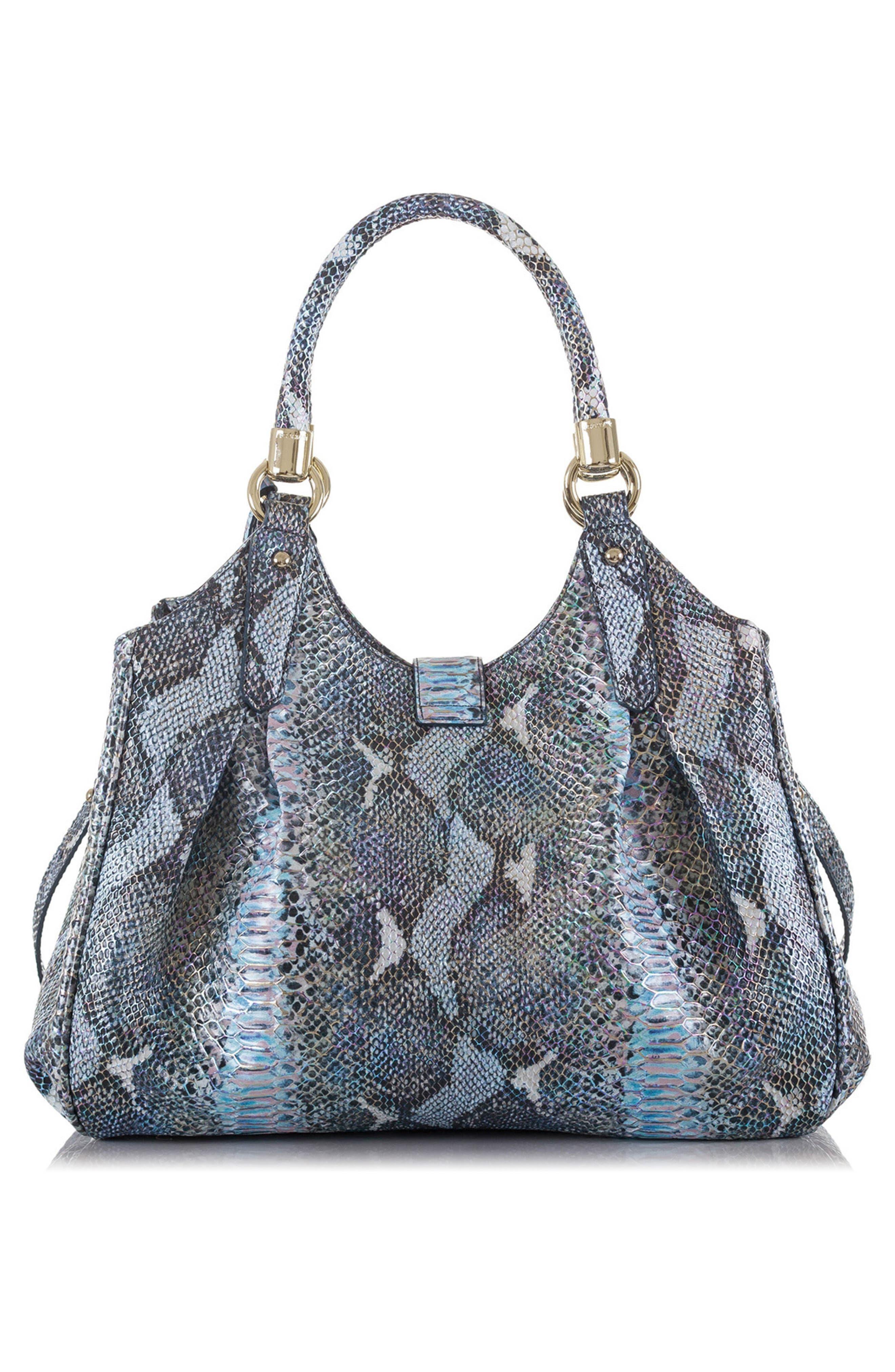'Elisa' Leather Shopper,                             Alternate thumbnail 2, color,                             Marine Seville