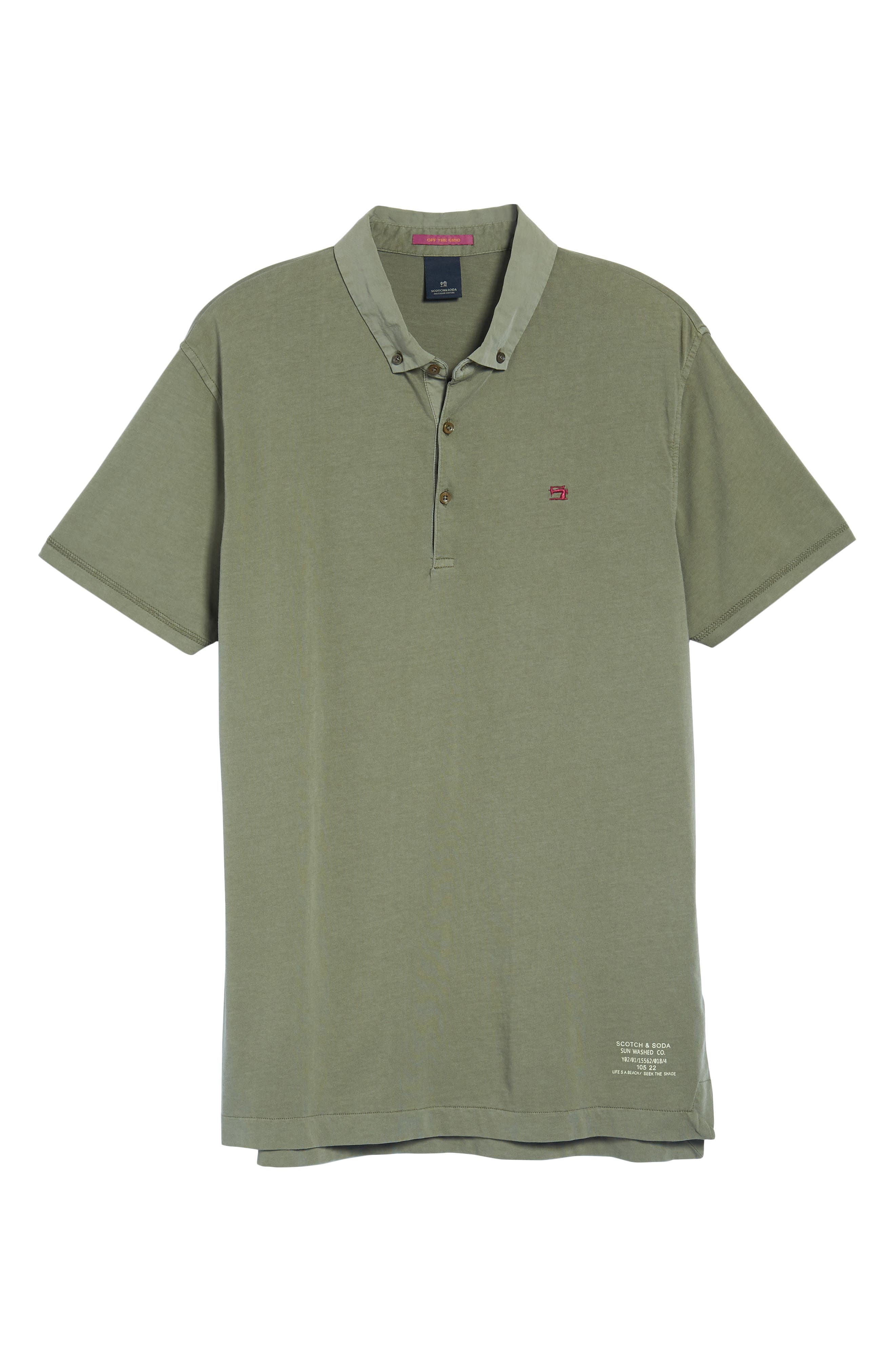 Classic Jersey Polo,                         Main,                         color, Army