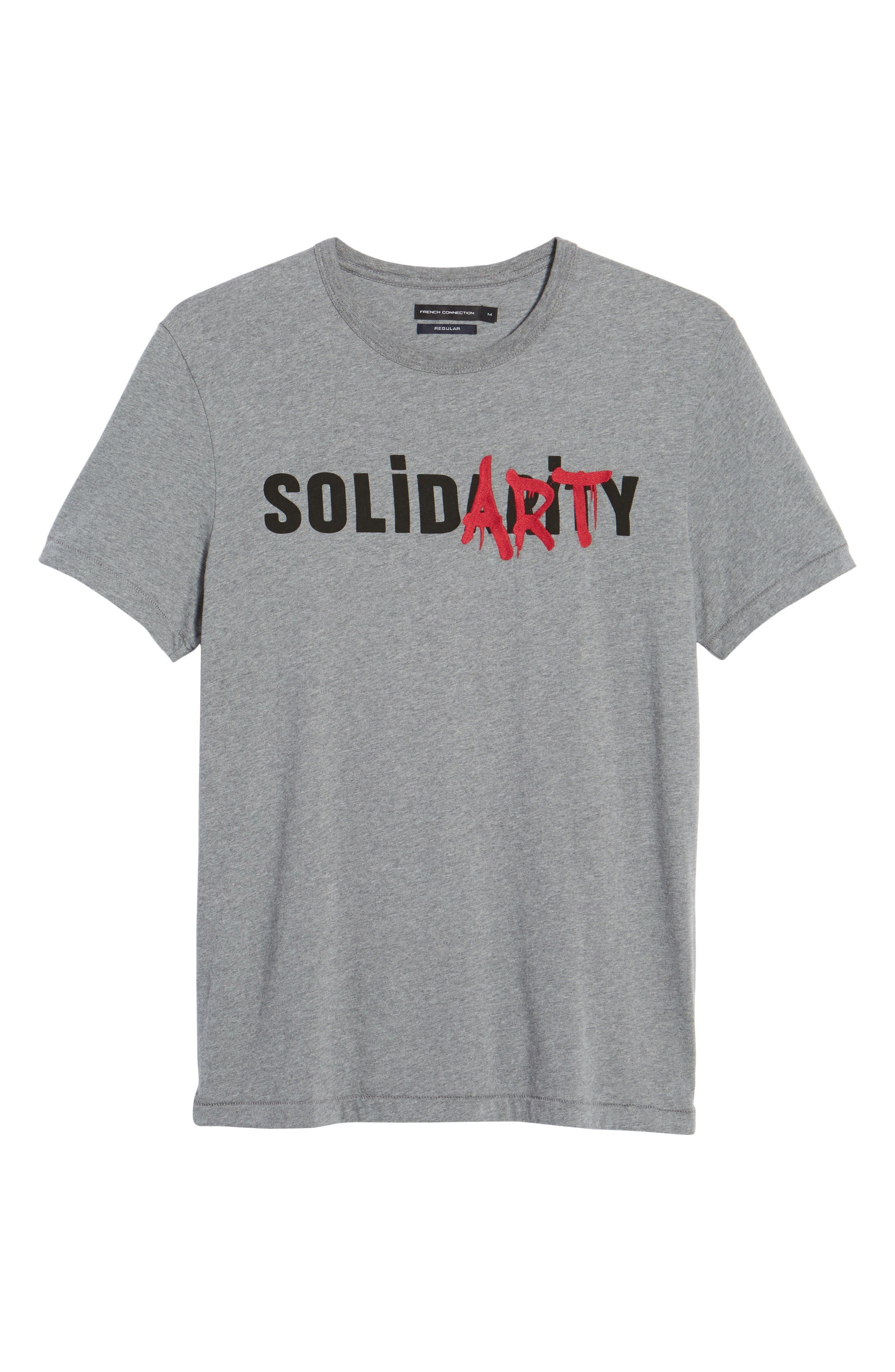 Solidarity Slim Fit Crewneck T-Shirt,                             Alternate thumbnail 6, color,                             Mid Grey Melange/ Black