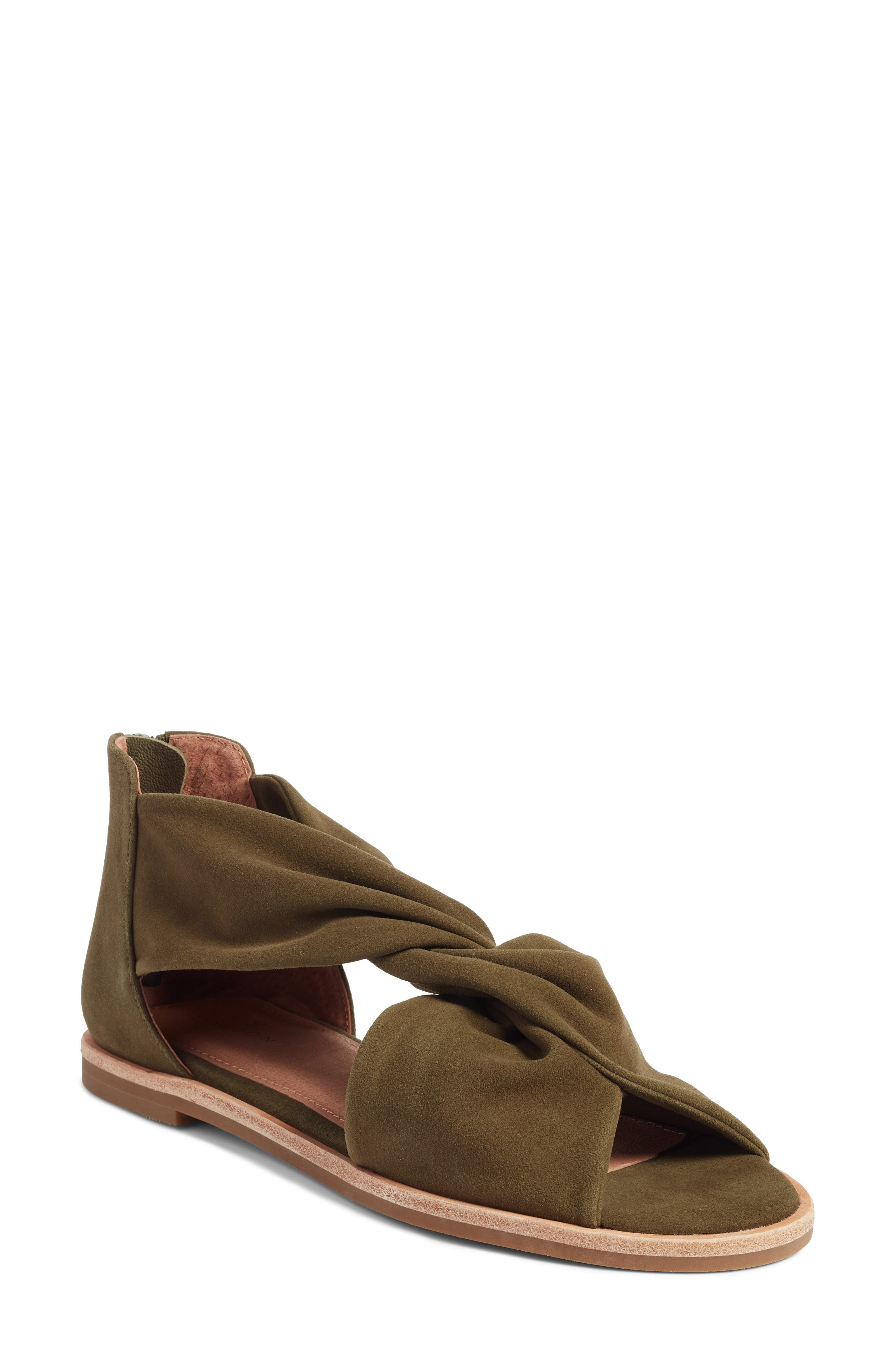 Maxwell Sandal,                             Main thumbnail 1, color,                             Olive Suede
