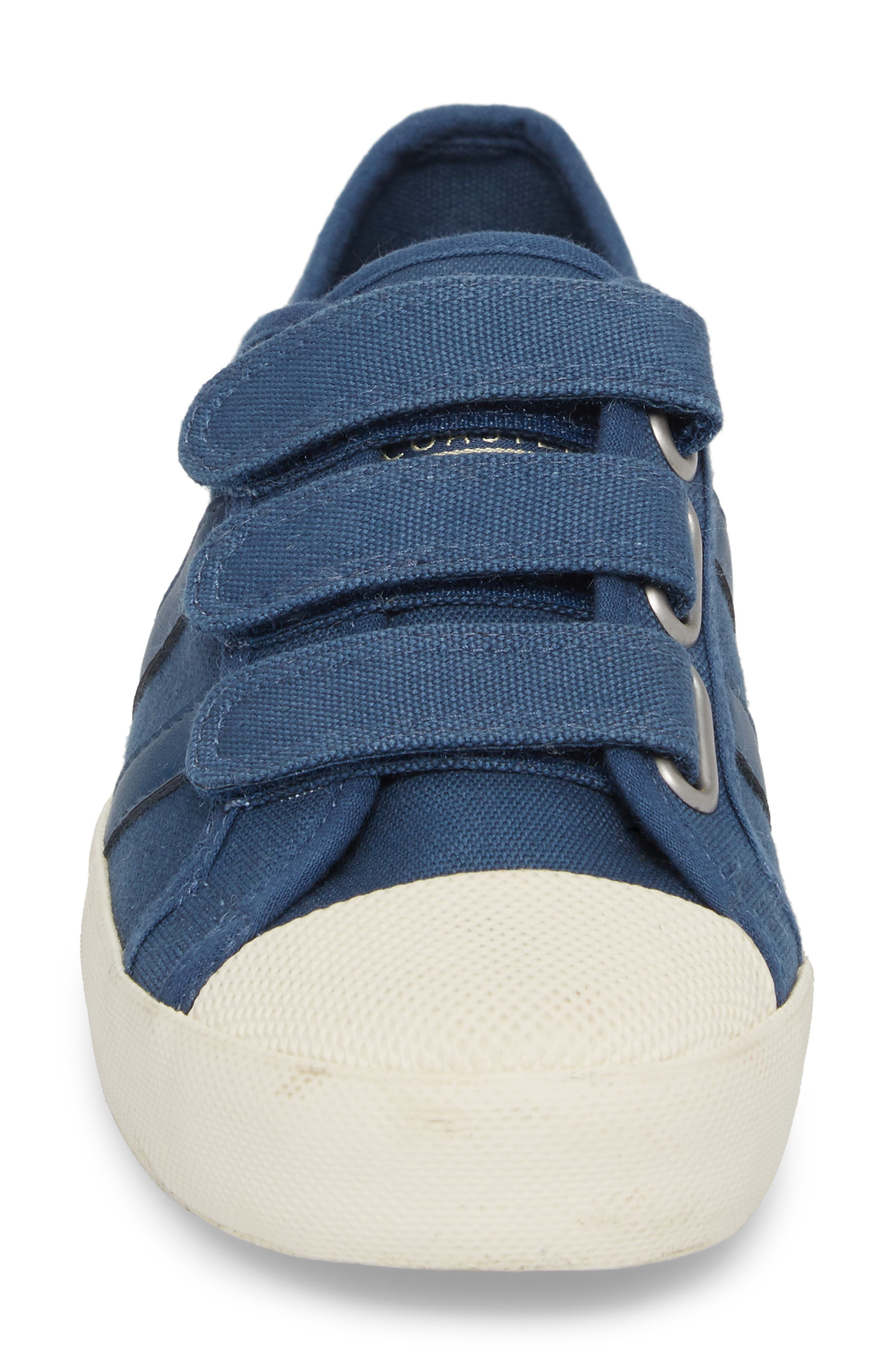 Coaster Low Top Sneaker,                             Alternate thumbnail 4, color,                             Baltic/ Off White