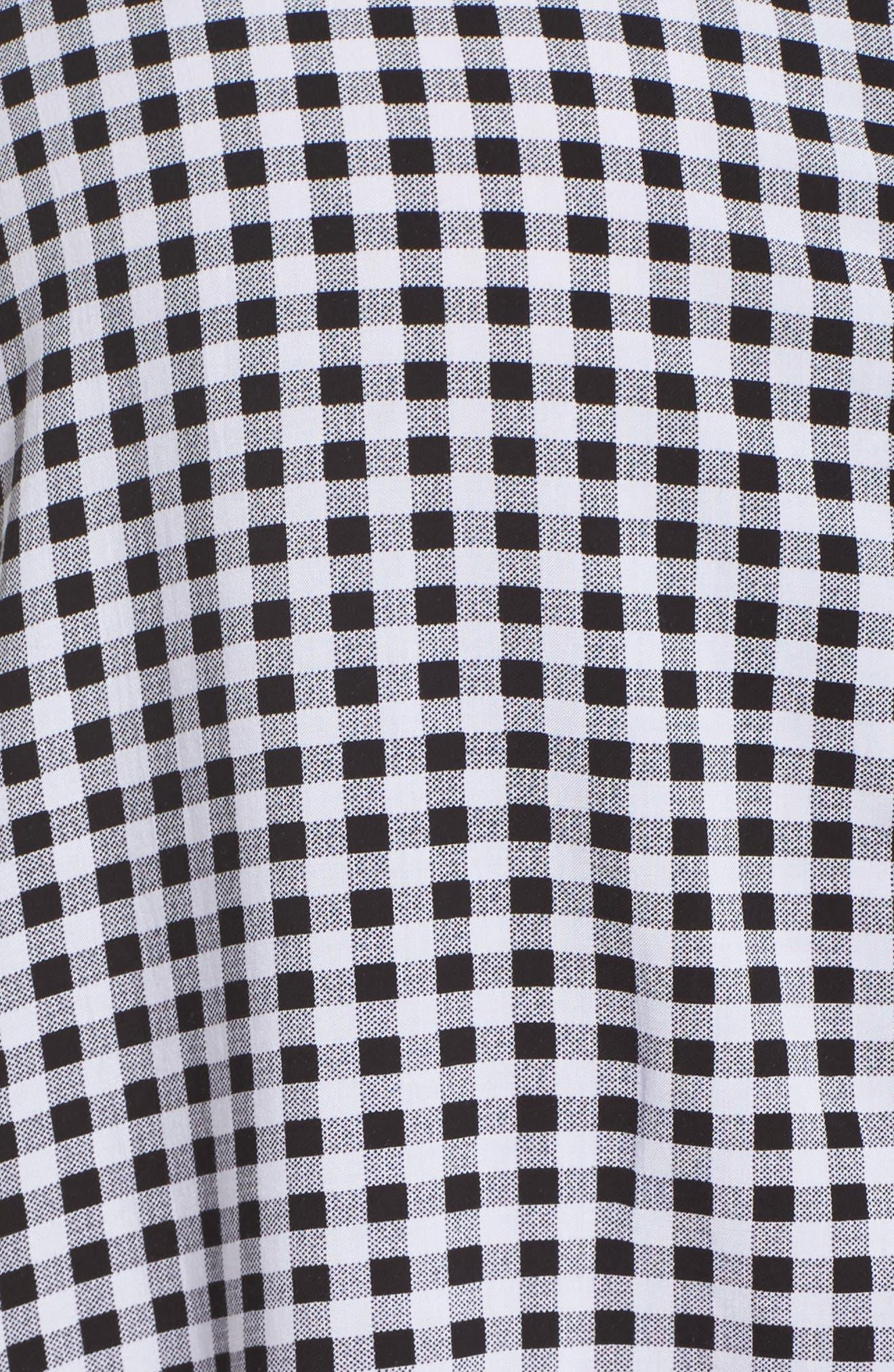 Gingham Sleep Shirt,                             Alternate thumbnail 6, color,                             Black