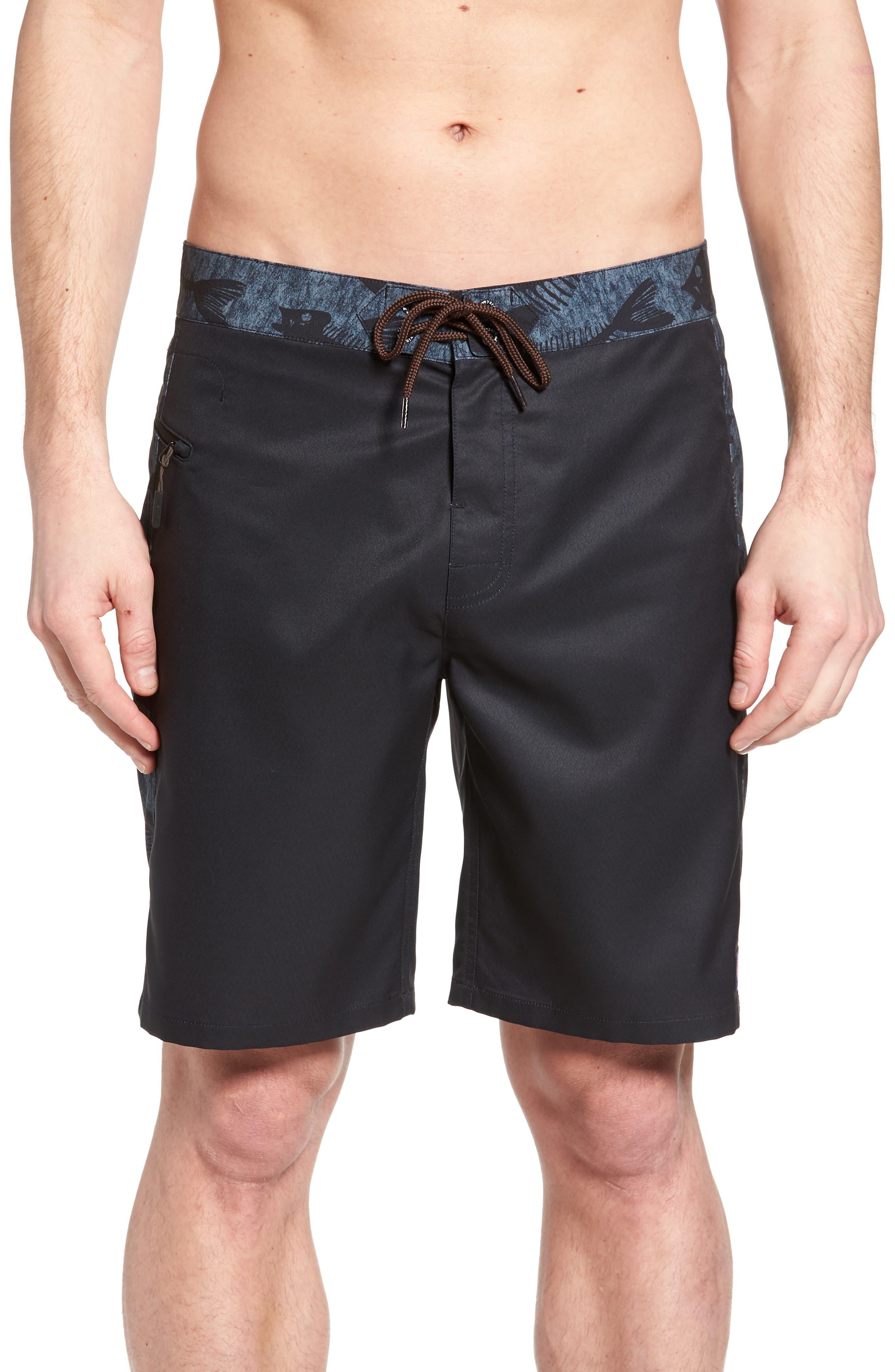 Bonefish Board Shorts,                         Main,                         color, Charcoal Grey