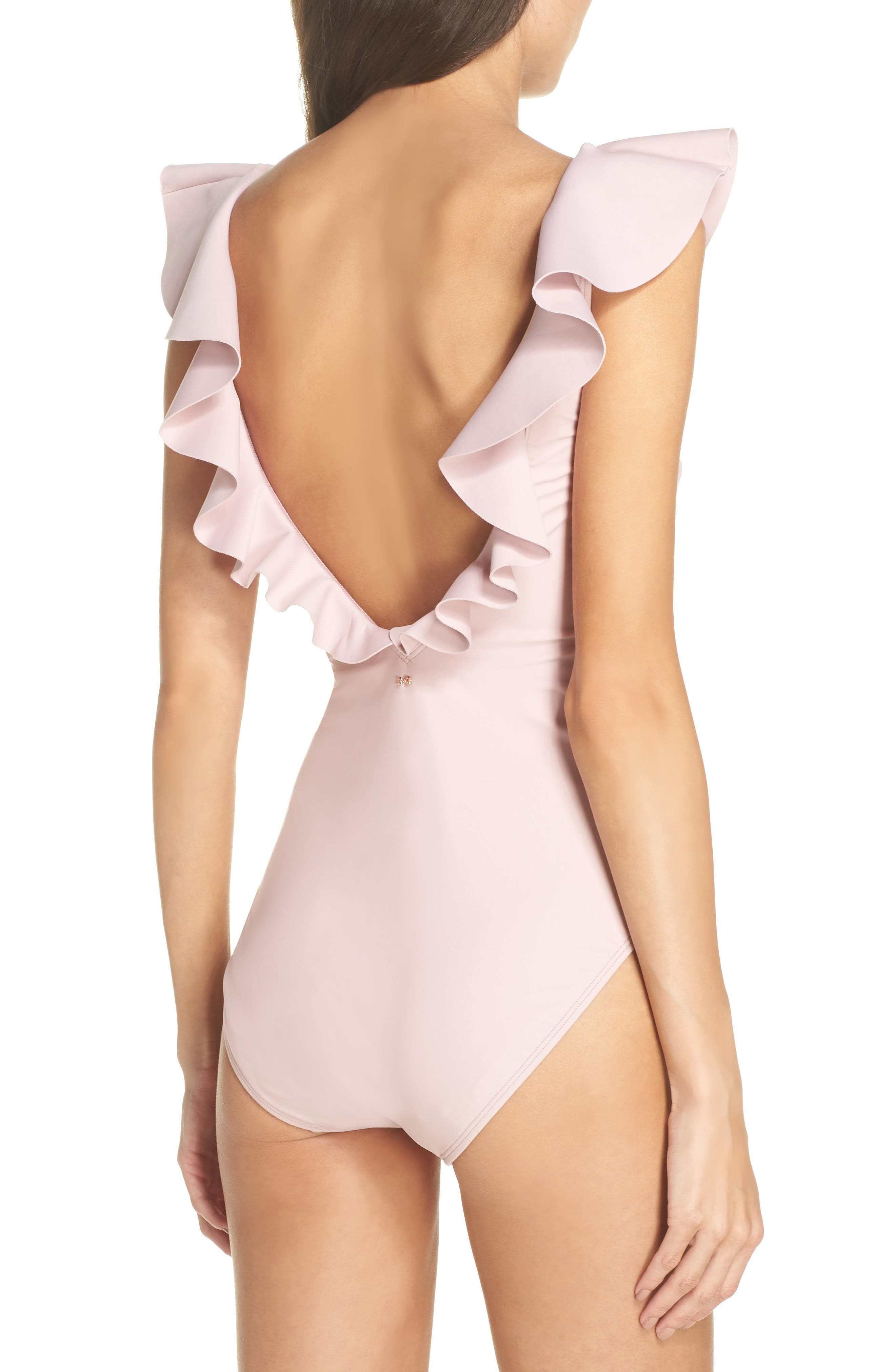 Henika One-Piece Swimsuit,                             Alternate thumbnail 2, color,                             Dusky Pink