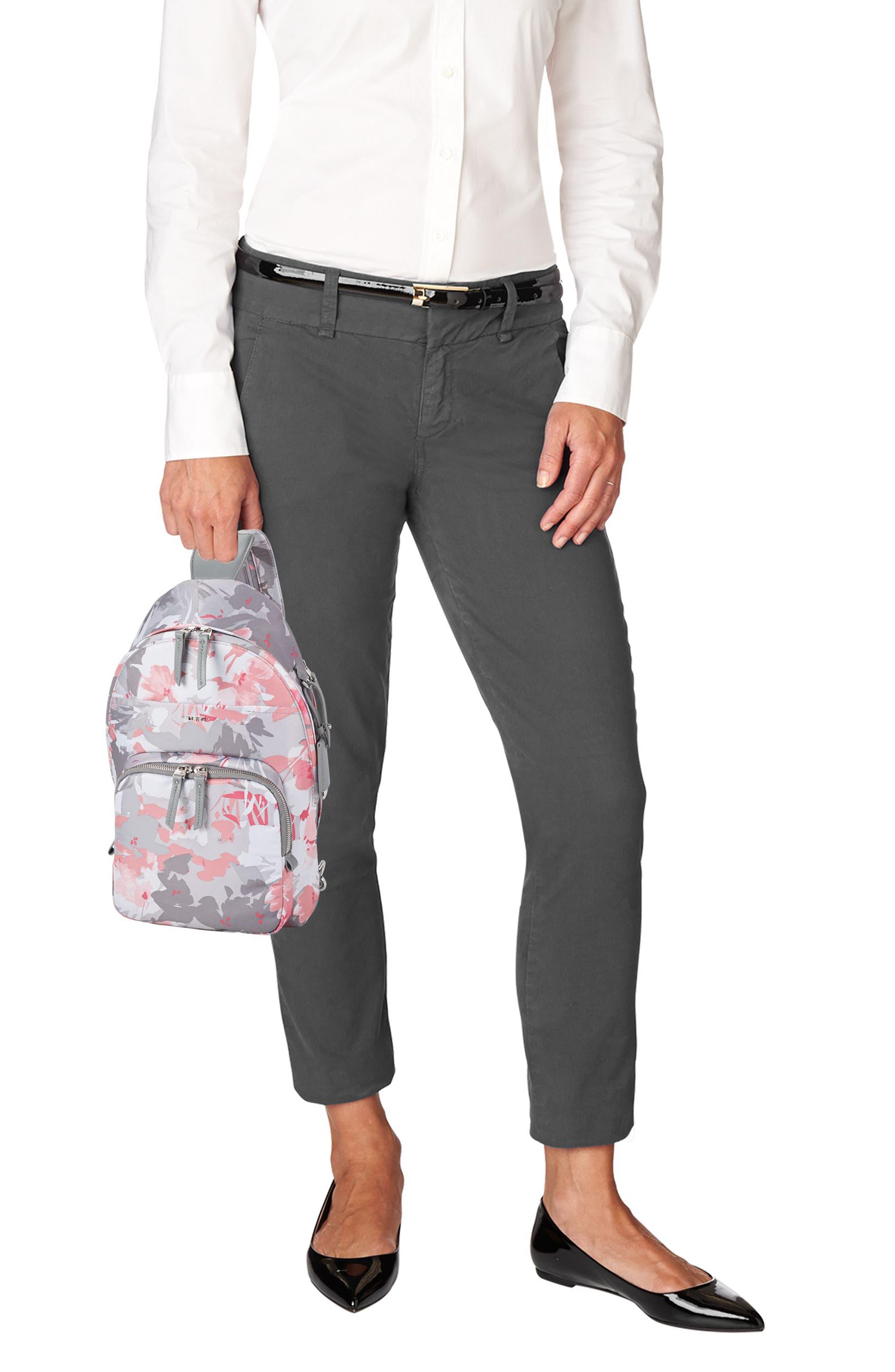Nadia Convertible Backpack,                             Alternate thumbnail 2, color,                             Grey Floral Print