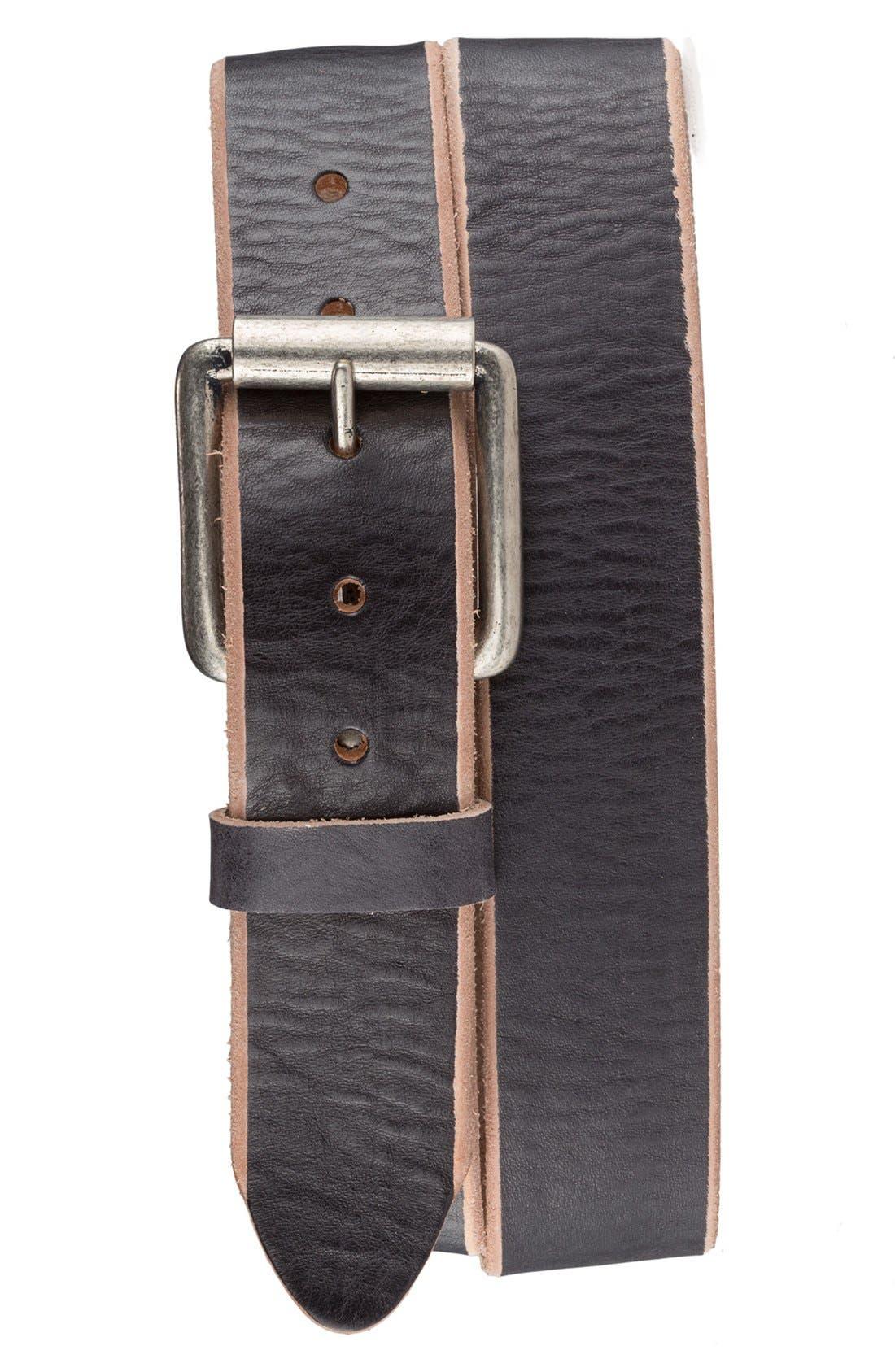Alternate Image 1 Selected - Bill Adler 1981 'Jelly Bean' Raw Edge Leather Belt