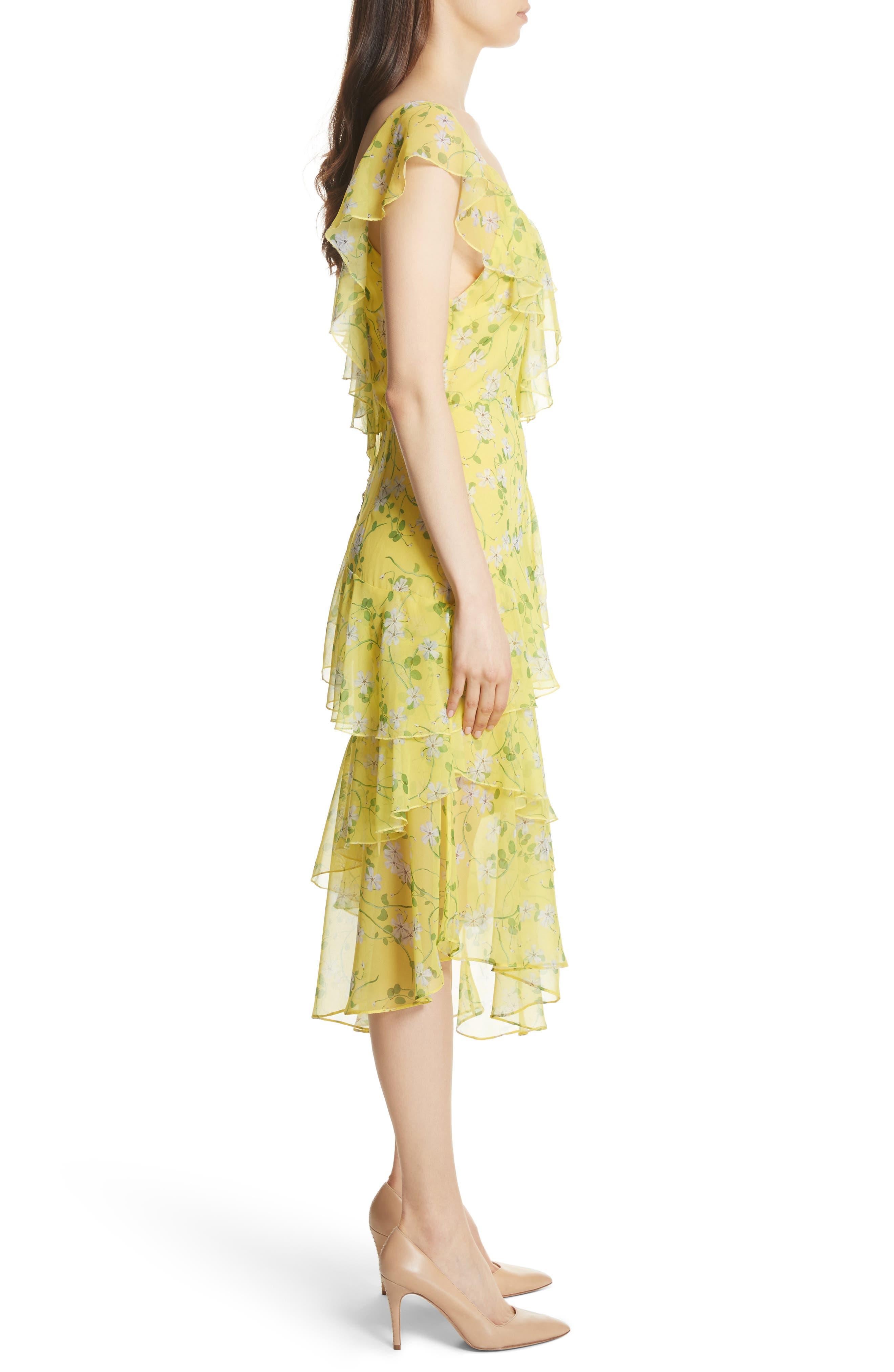 Alternate Image 3  - Alice + Olivia Olympia Asymmetrical Print Silk Dress