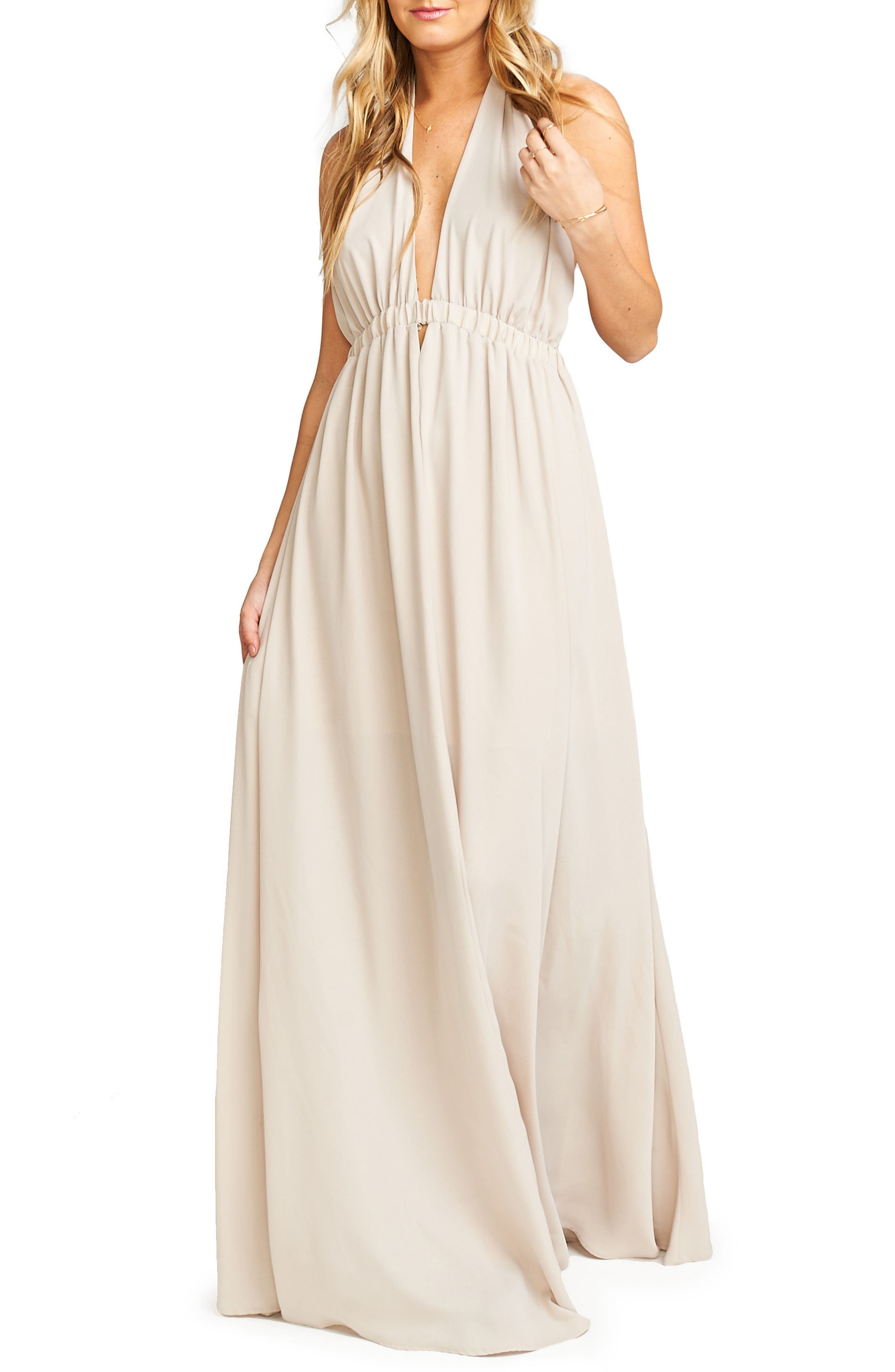 Luna Halter Gown,                             Main thumbnail 1, color,                             Show Me The Ring