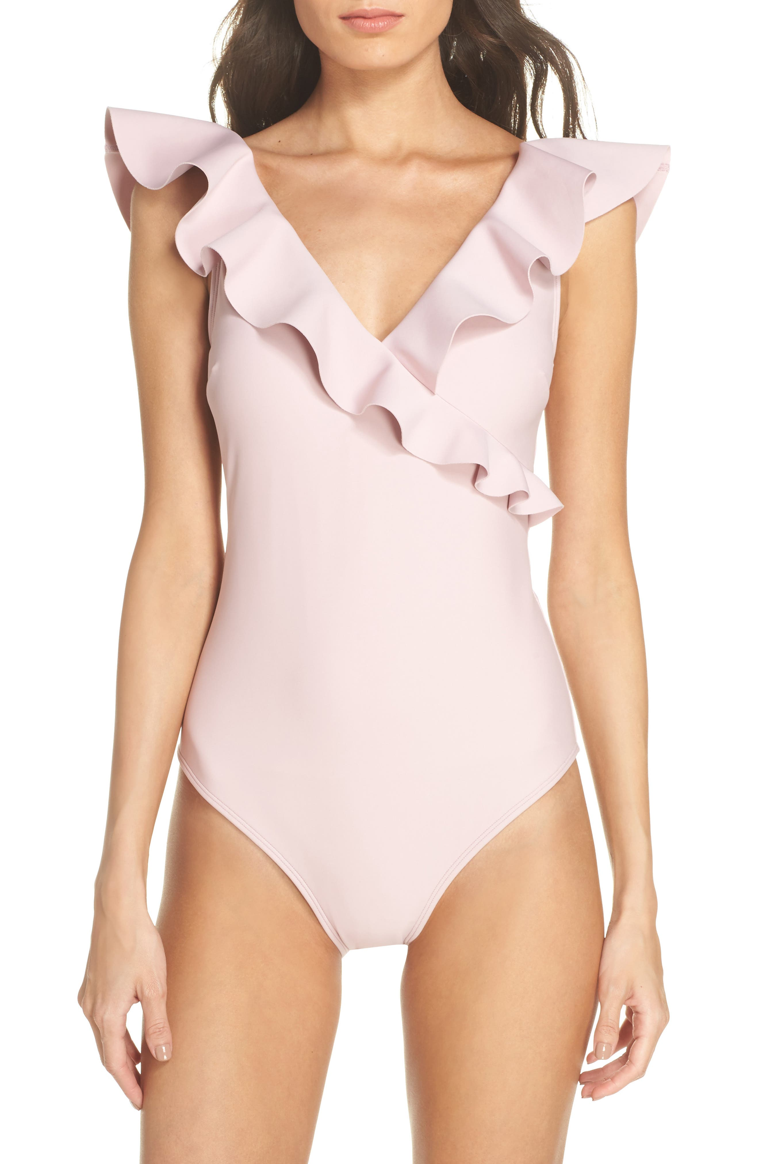 Henika One-Piece Swimsuit,                             Main thumbnail 1, color,                             Dusky Pink
