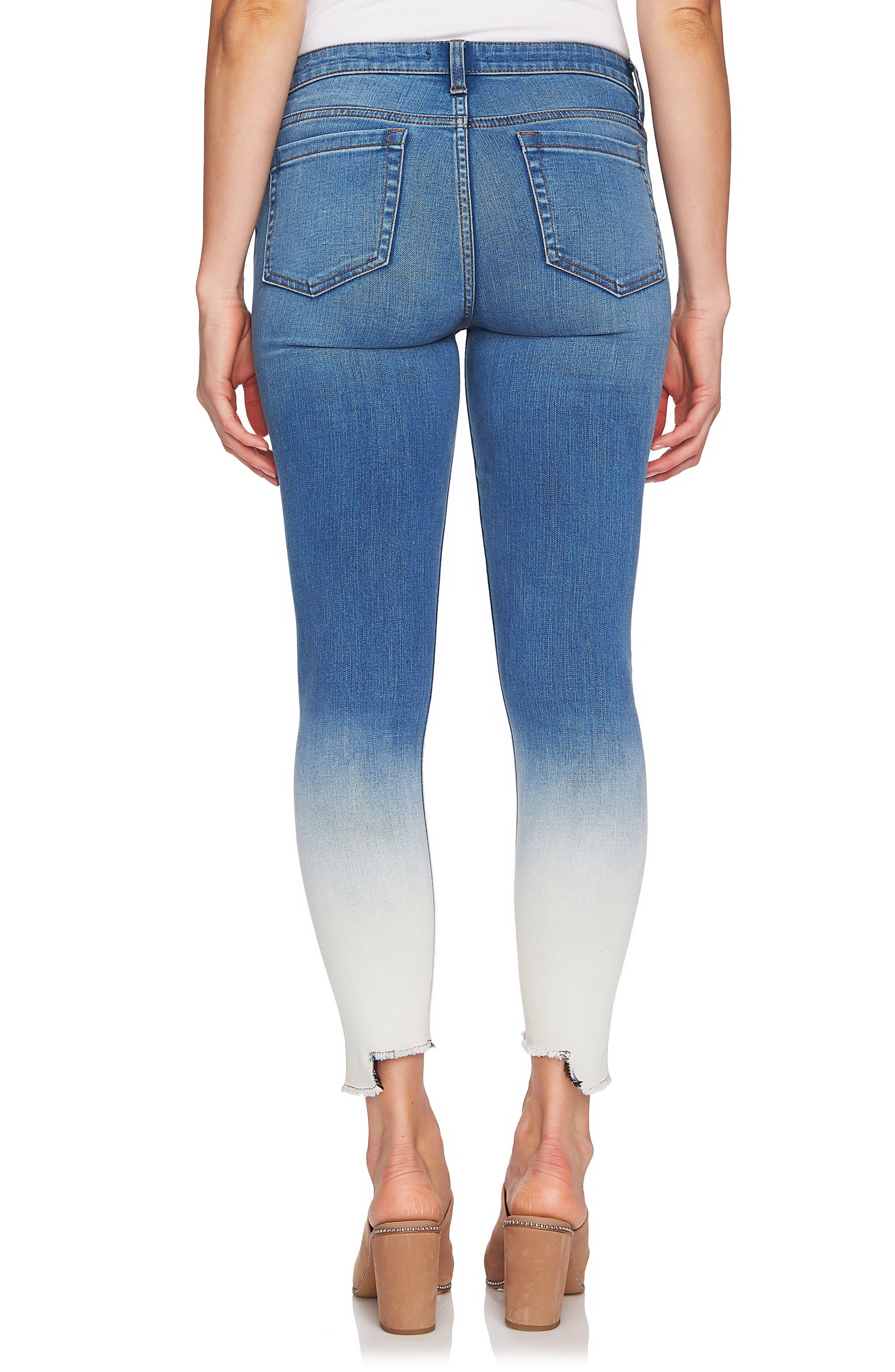 Dip Dye Skinny Jeans,                             Alternate thumbnail 2, color,                             Riviera
