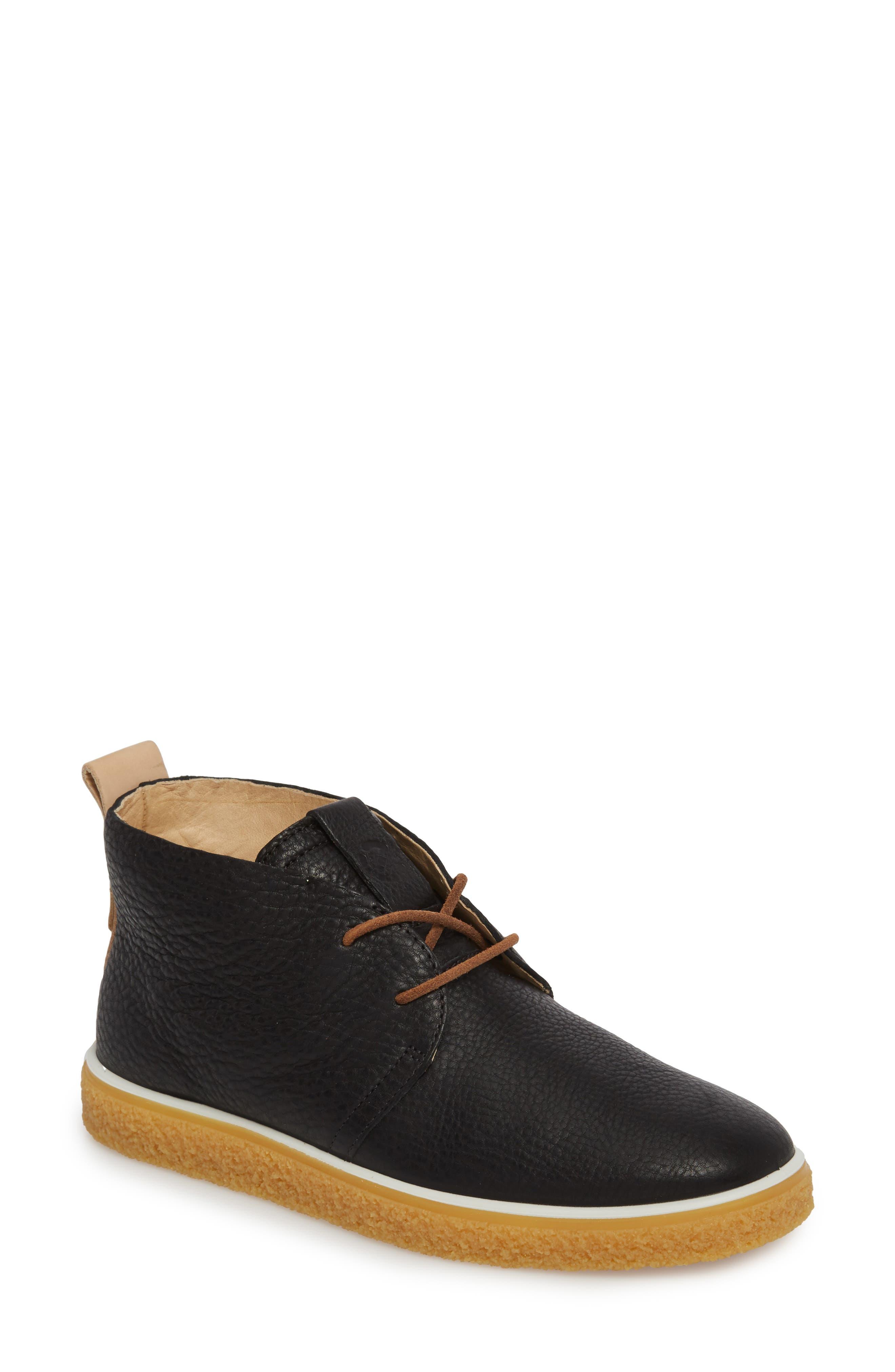 Crepetray Chukka Boot,                         Main,                         color, Black Powder Leather