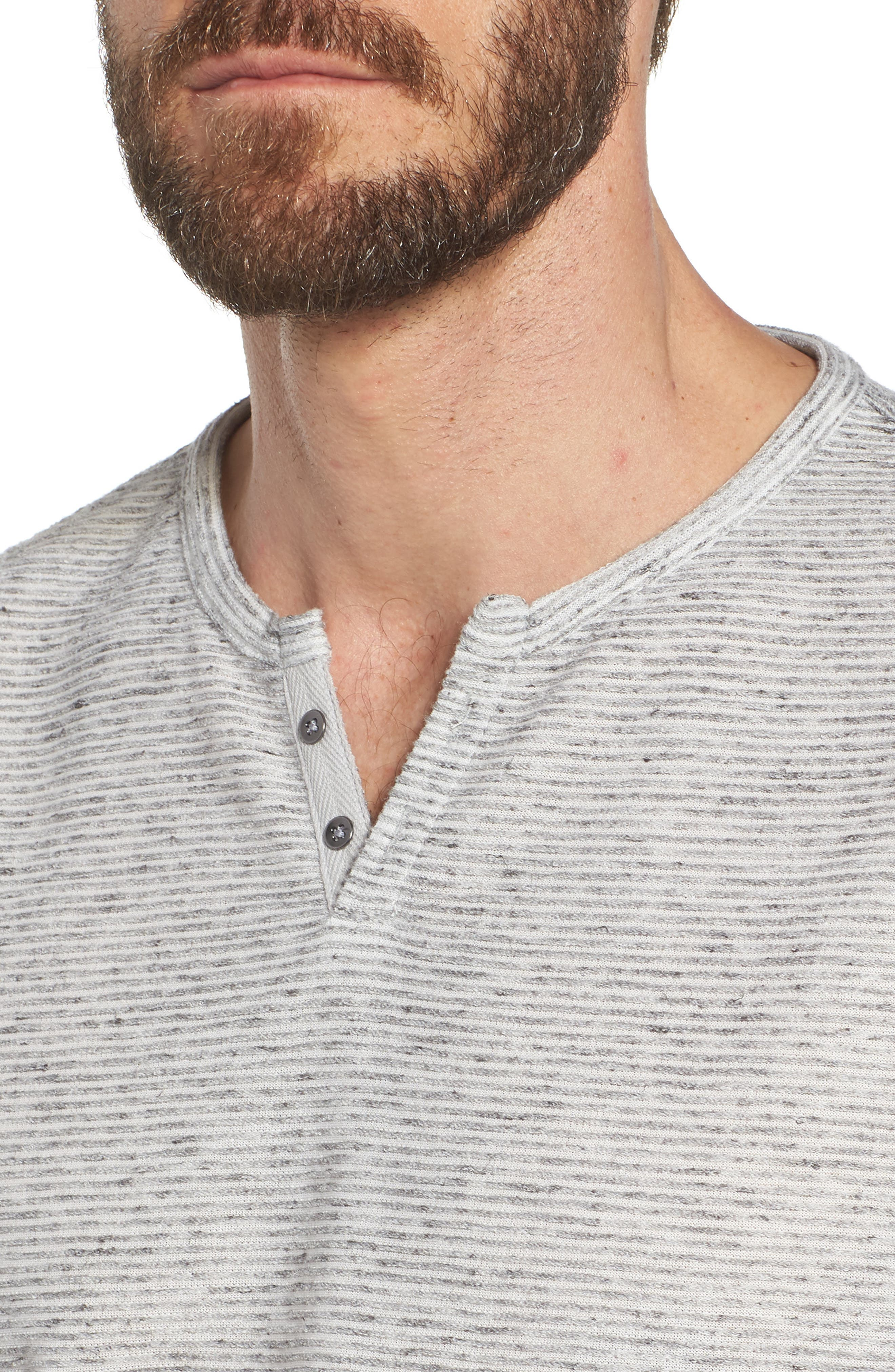 Metro Stripe Henley Shirt,                             Alternate thumbnail 4, color,                             Light Grey
