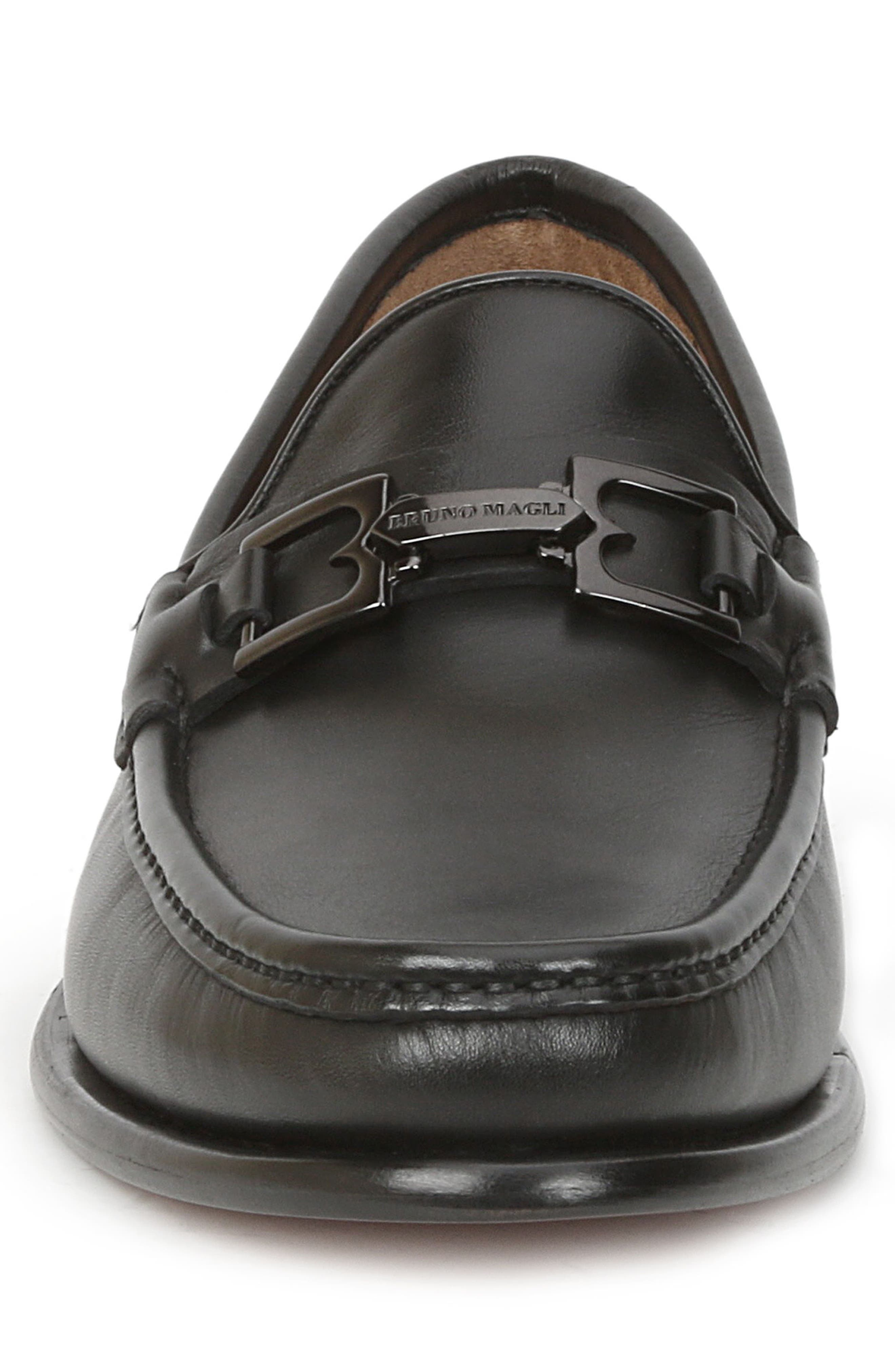 Enzo Bit Loafer,                             Alternate thumbnail 4, color,                             Black