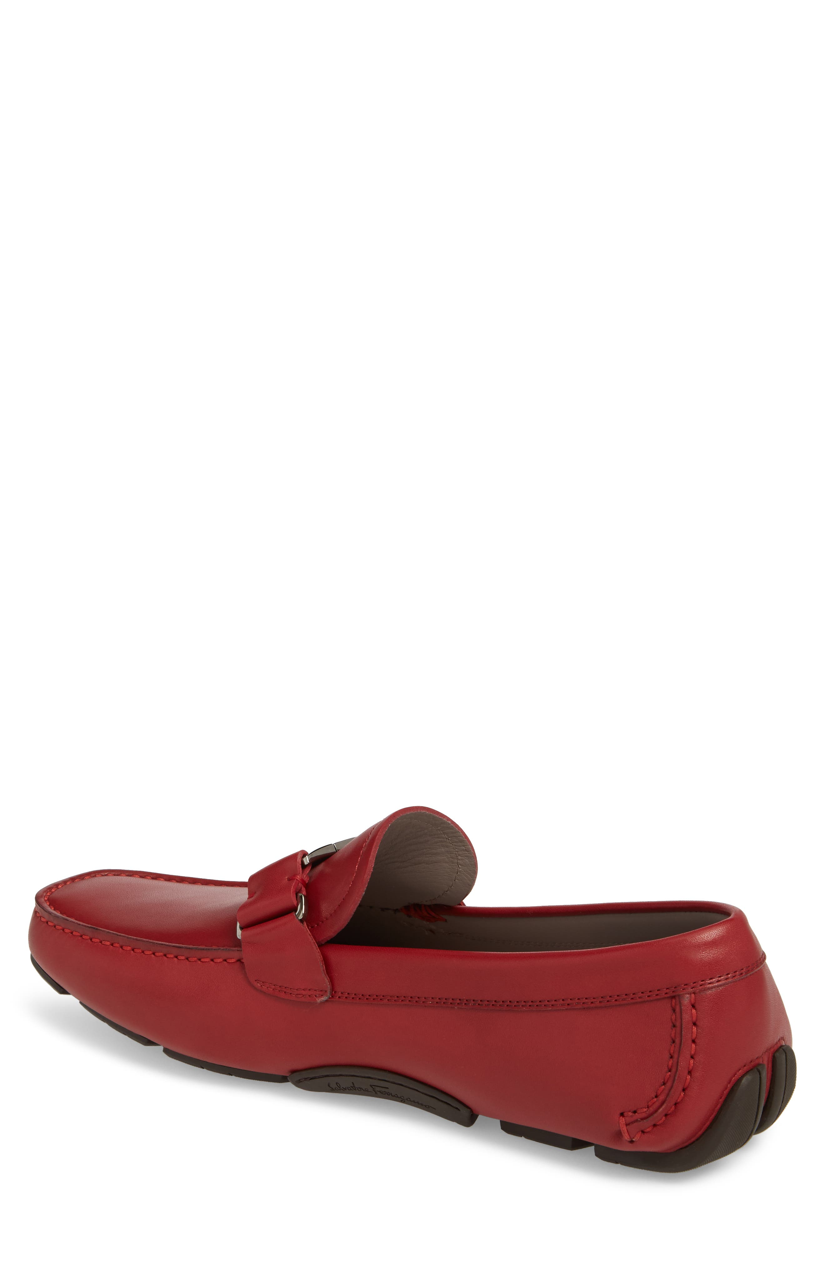 Sardegna Driving Shoe,                             Alternate thumbnail 2, color,                             Red Leather