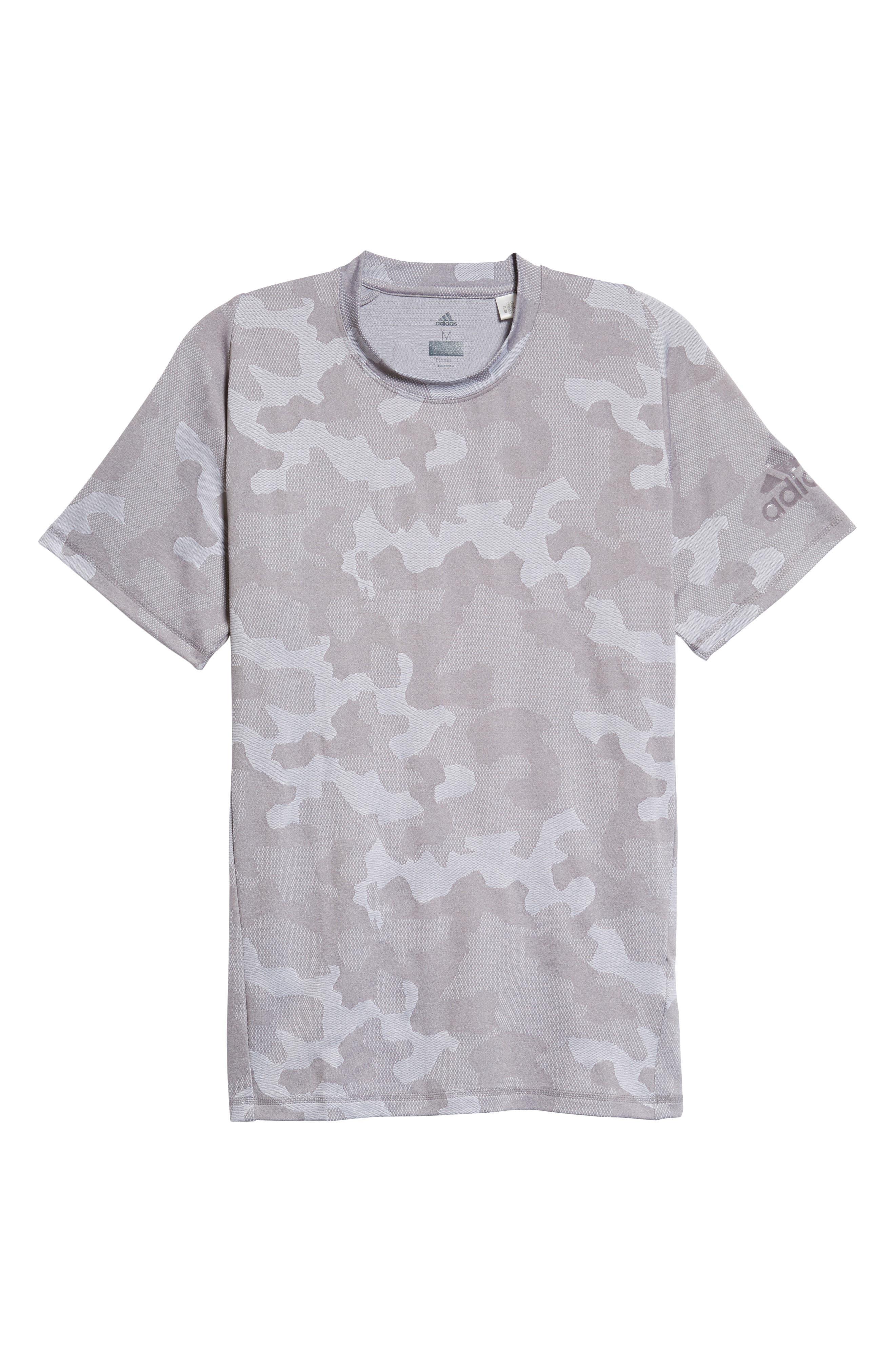 Camo Hype T-Shirt,                             Alternate thumbnail 7, color,                             Grey Three / White