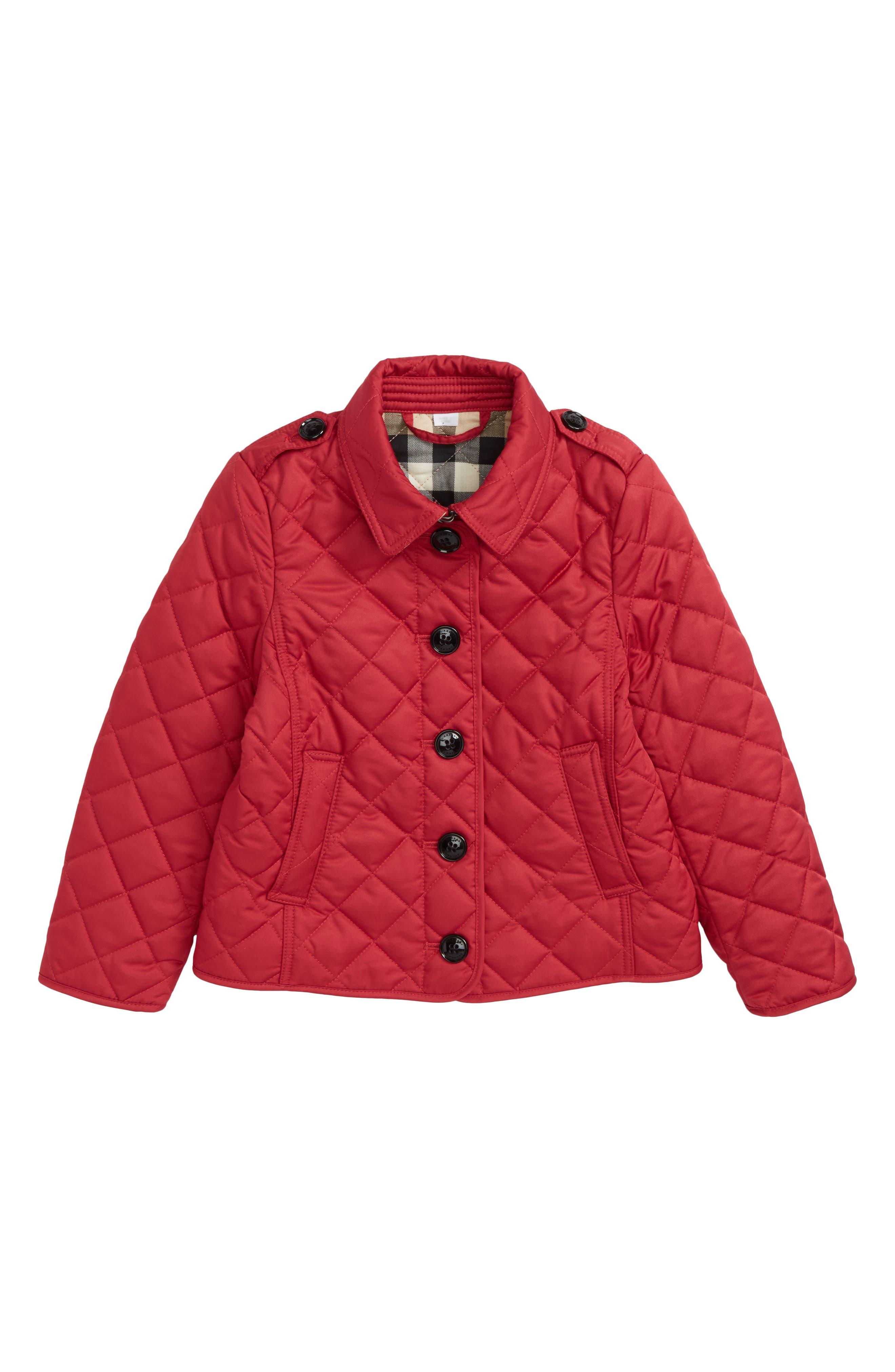 Mini Ashurst Diamond Quilted Jacket,                             Main thumbnail 1, color,                             Crimson Pink