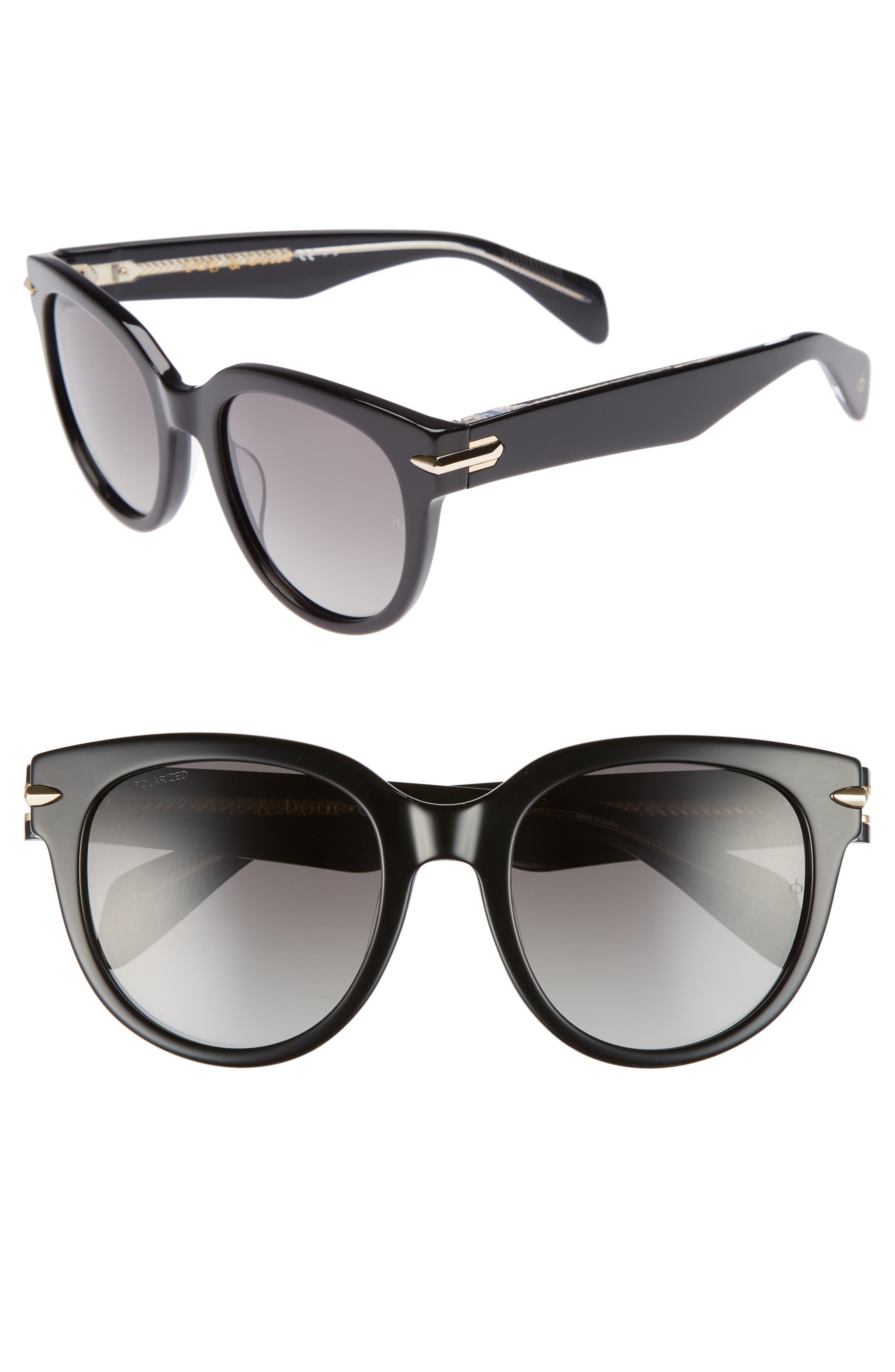 rag & bone 54mm Round Sunglasses