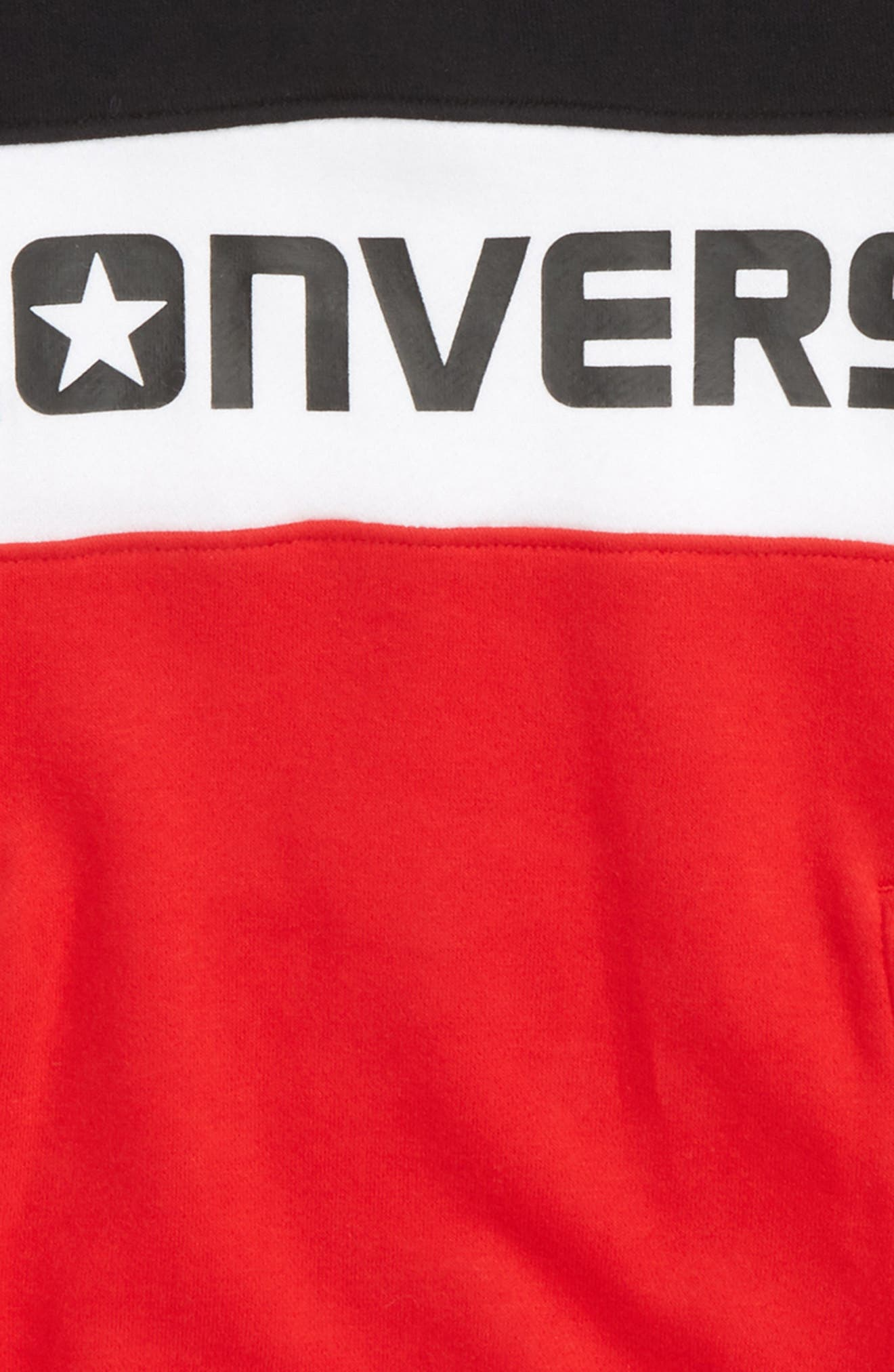 Colorblock Logo Sweatshirt,                             Alternate thumbnail 2, color,                             Converse Red