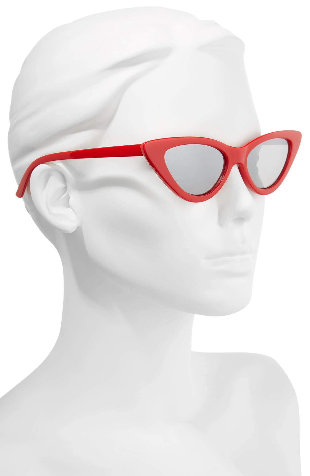 I Spy 53mm Exaggerated Cat Eye Sunglasses,                             Alternate thumbnail 2, color,                             Red