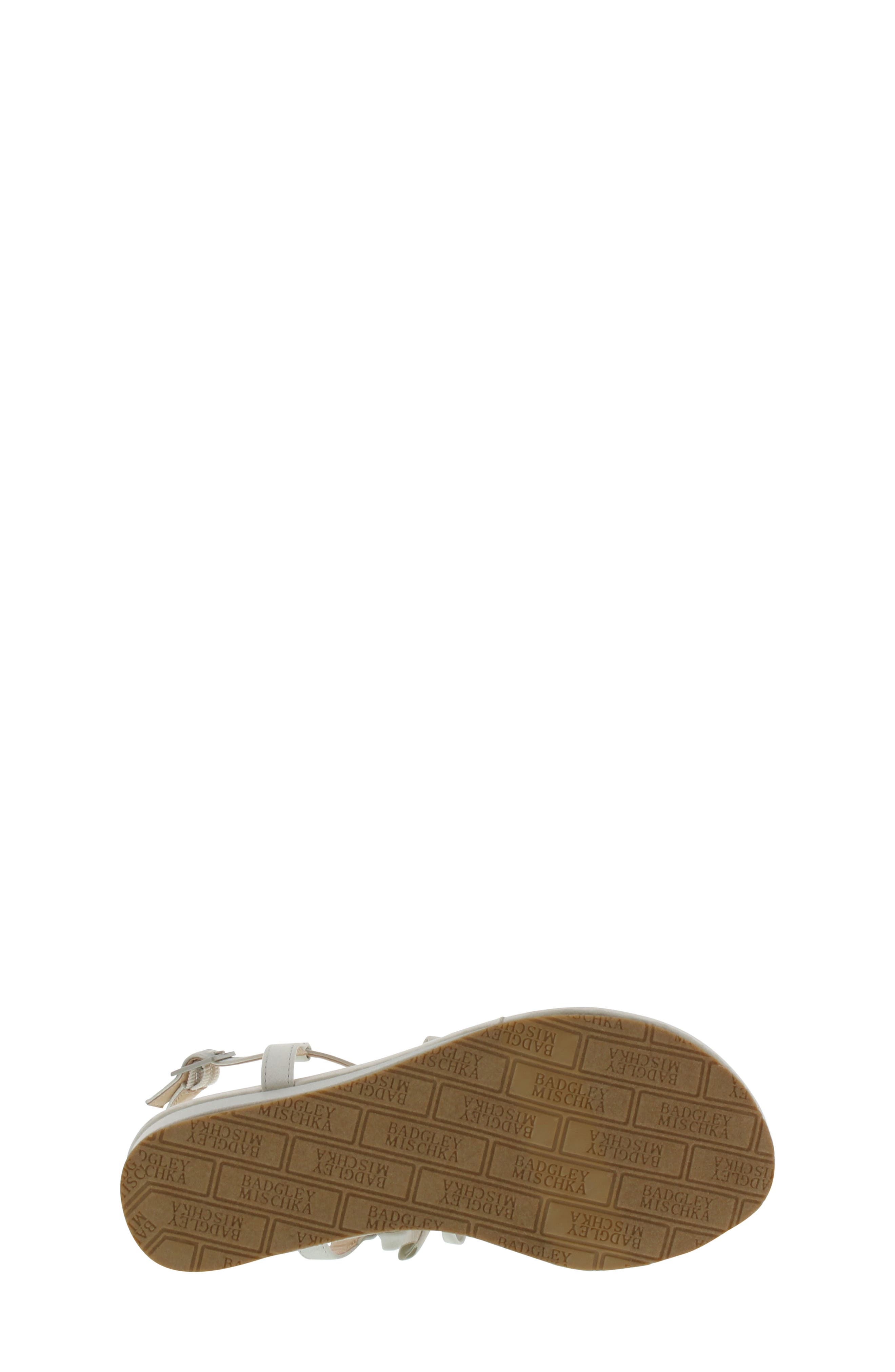 Talia Embellished Bow Sandal,                             Alternate thumbnail 6, color,                             Silver