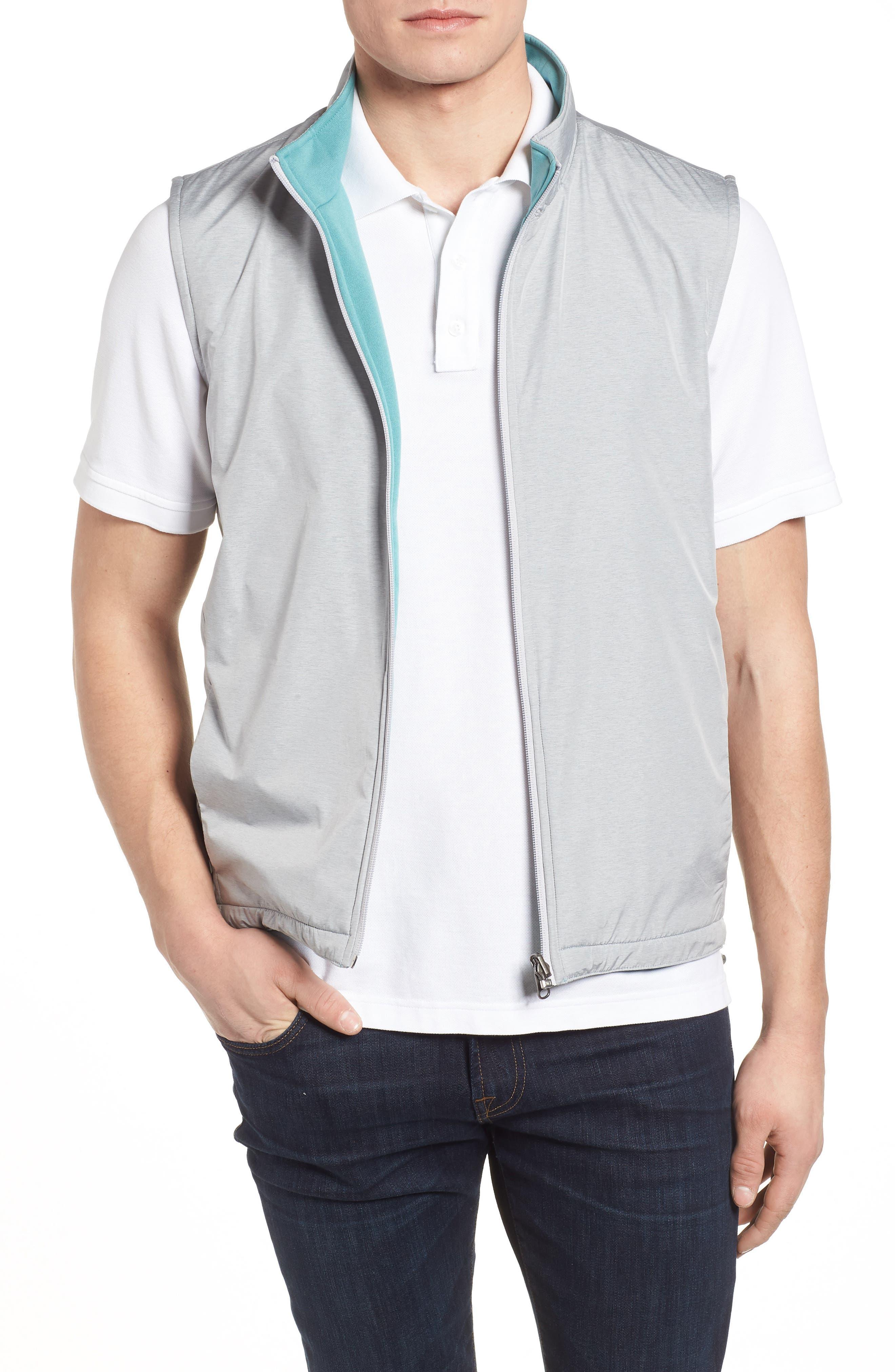 Carthage Reversible Vest,                             Main thumbnail 1, color,                             British Grey