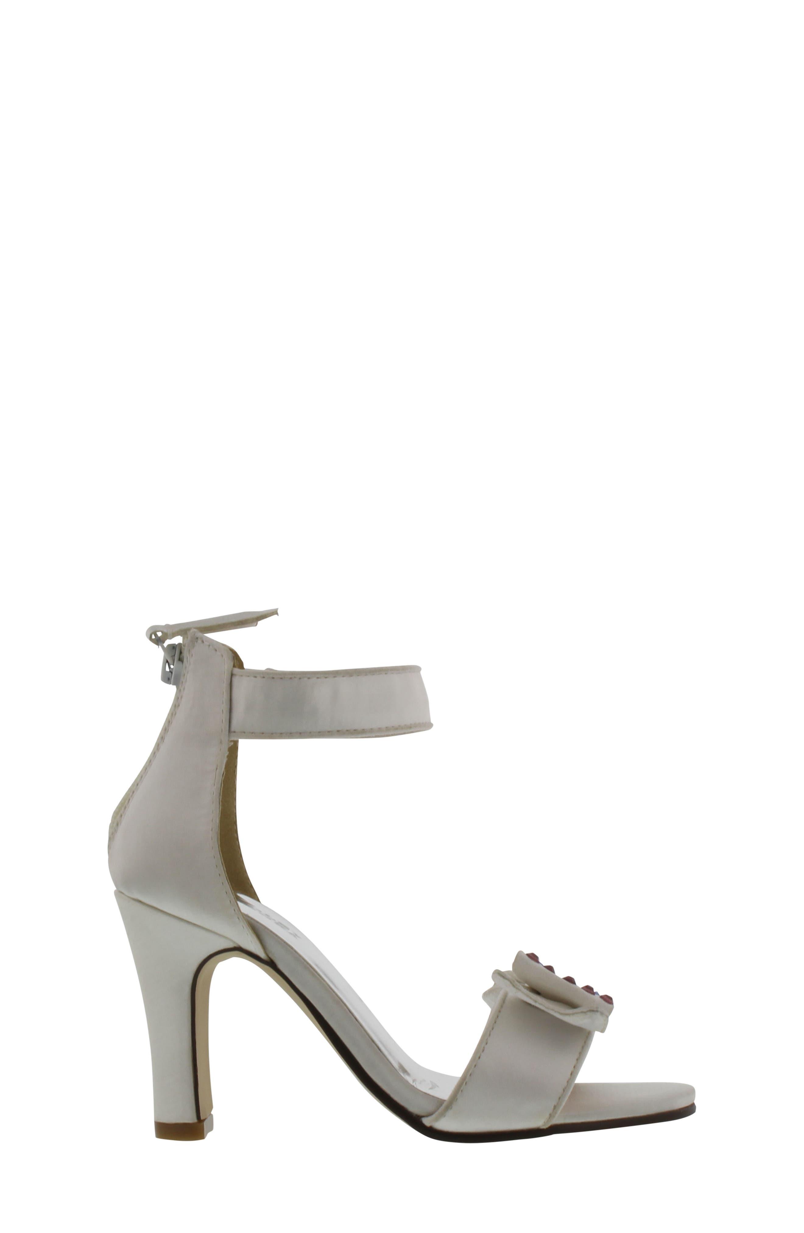 Kendall Embellished Bow Sandal,                             Alternate thumbnail 3, color,                             White Multi