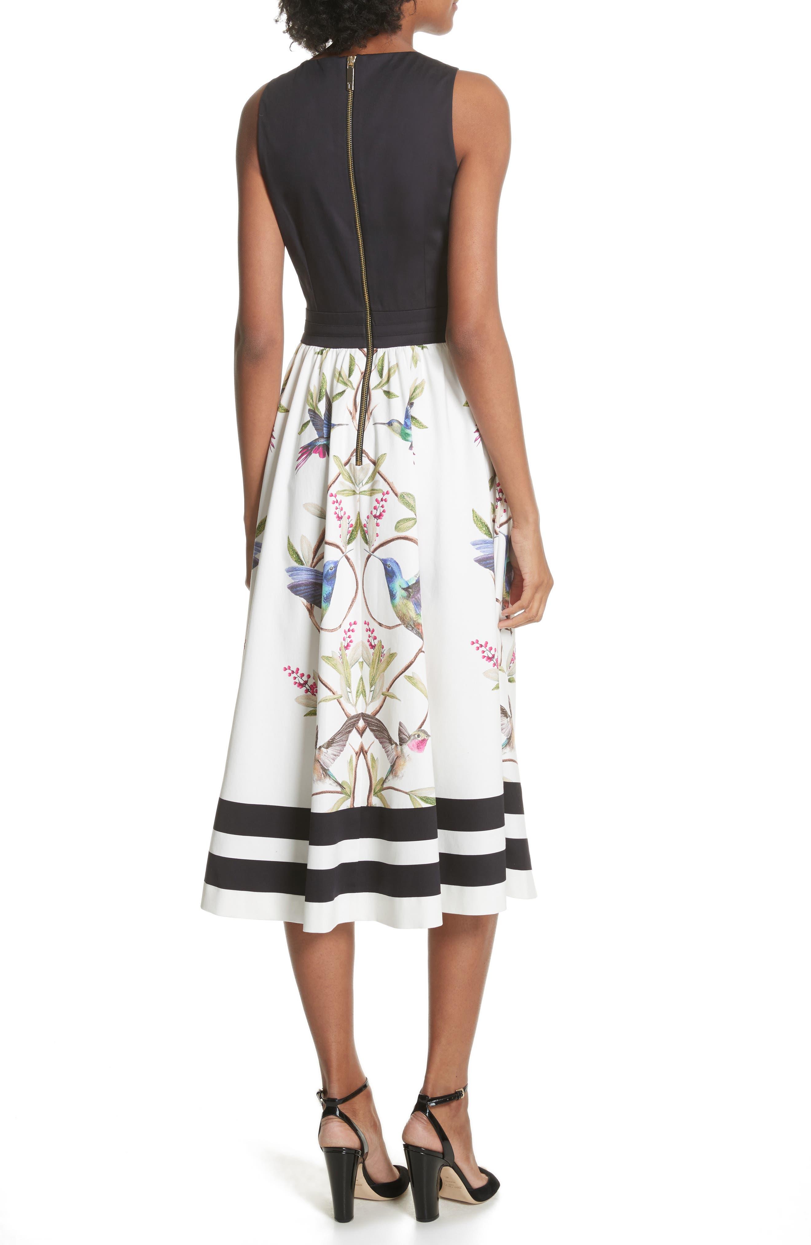 High Grove Fit & Flare Dress,                             Alternate thumbnail 2, color,                             Black