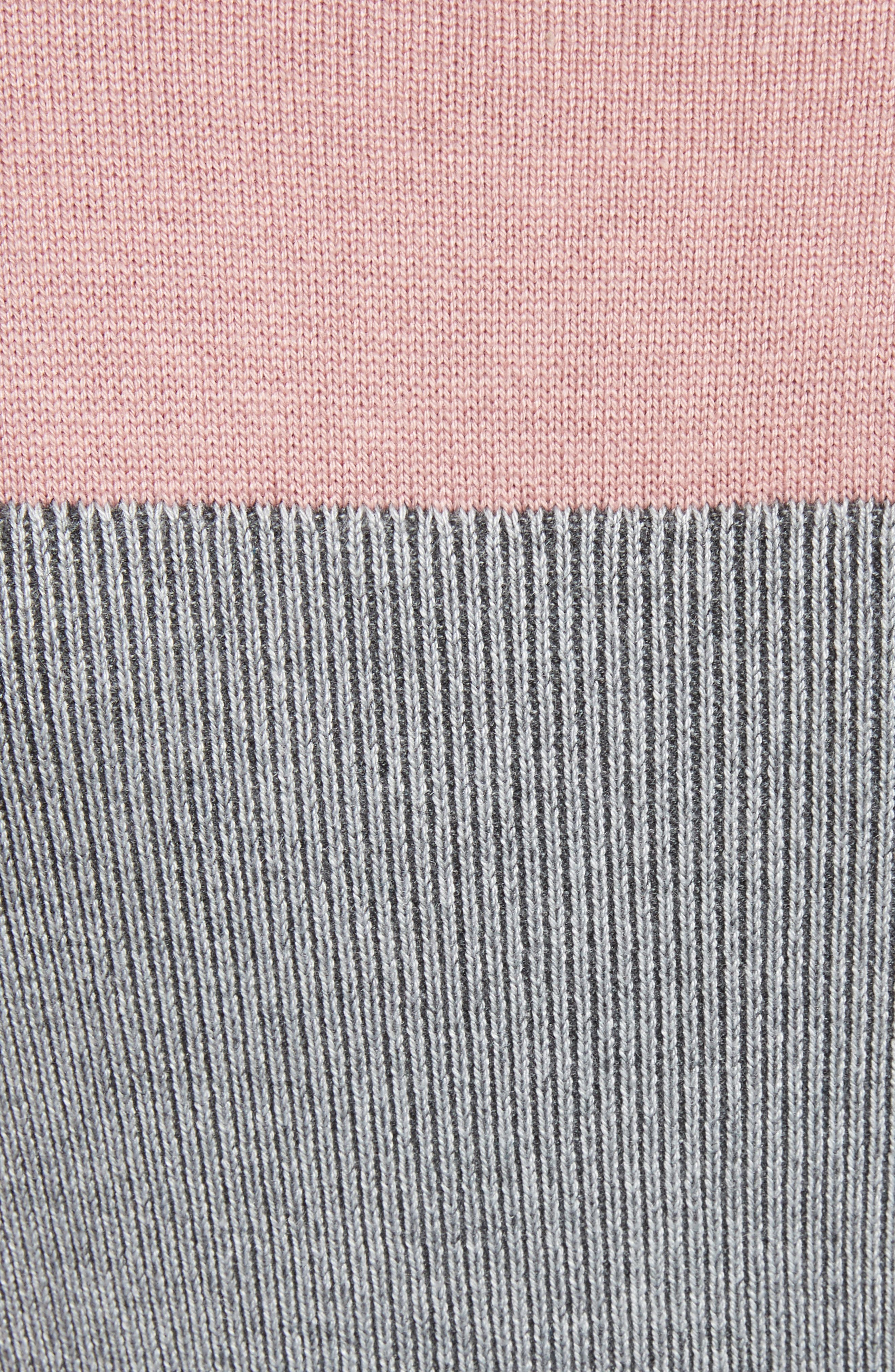 Colour by Numbers Colorblock Sweater Dress,                             Alternate thumbnail 5, color,                             Grey