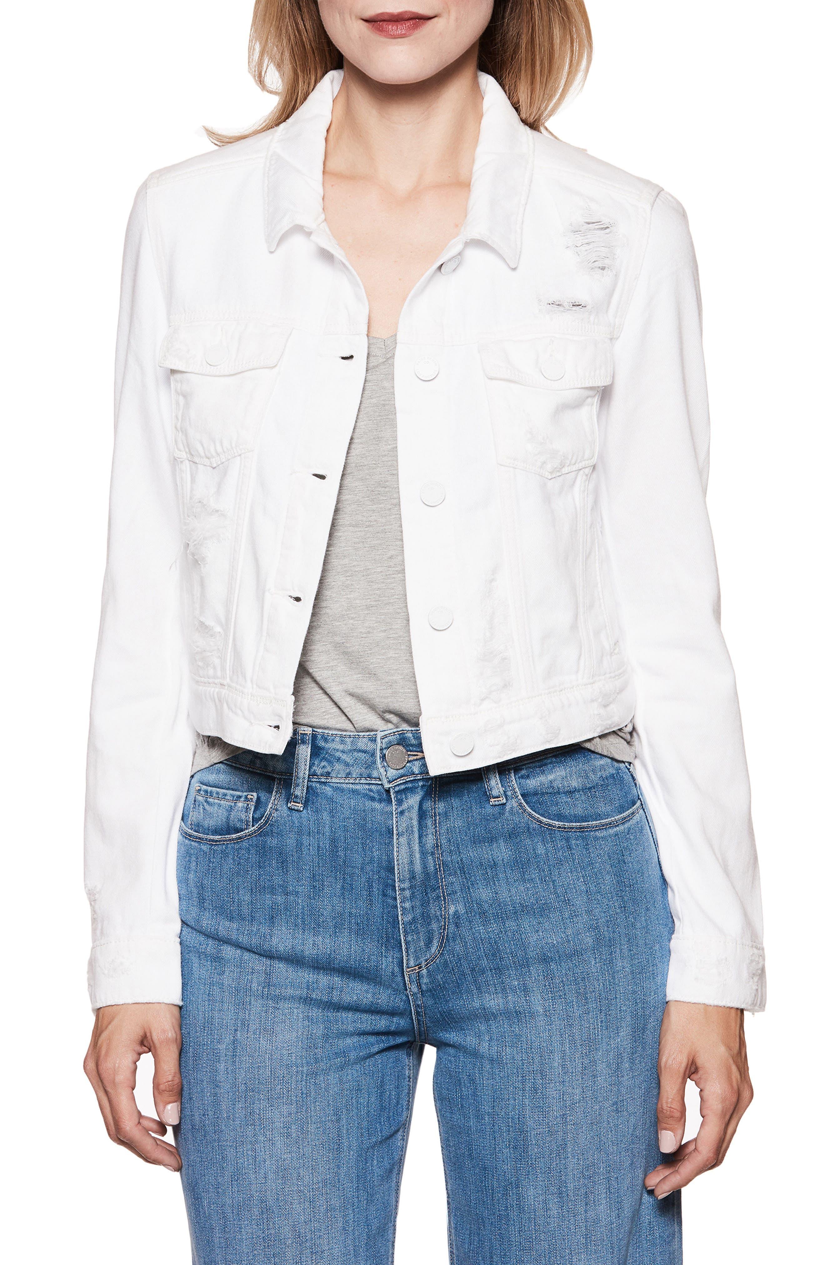 PAIGE Vivienne Denim Jacket (Ultra White Destructed)
