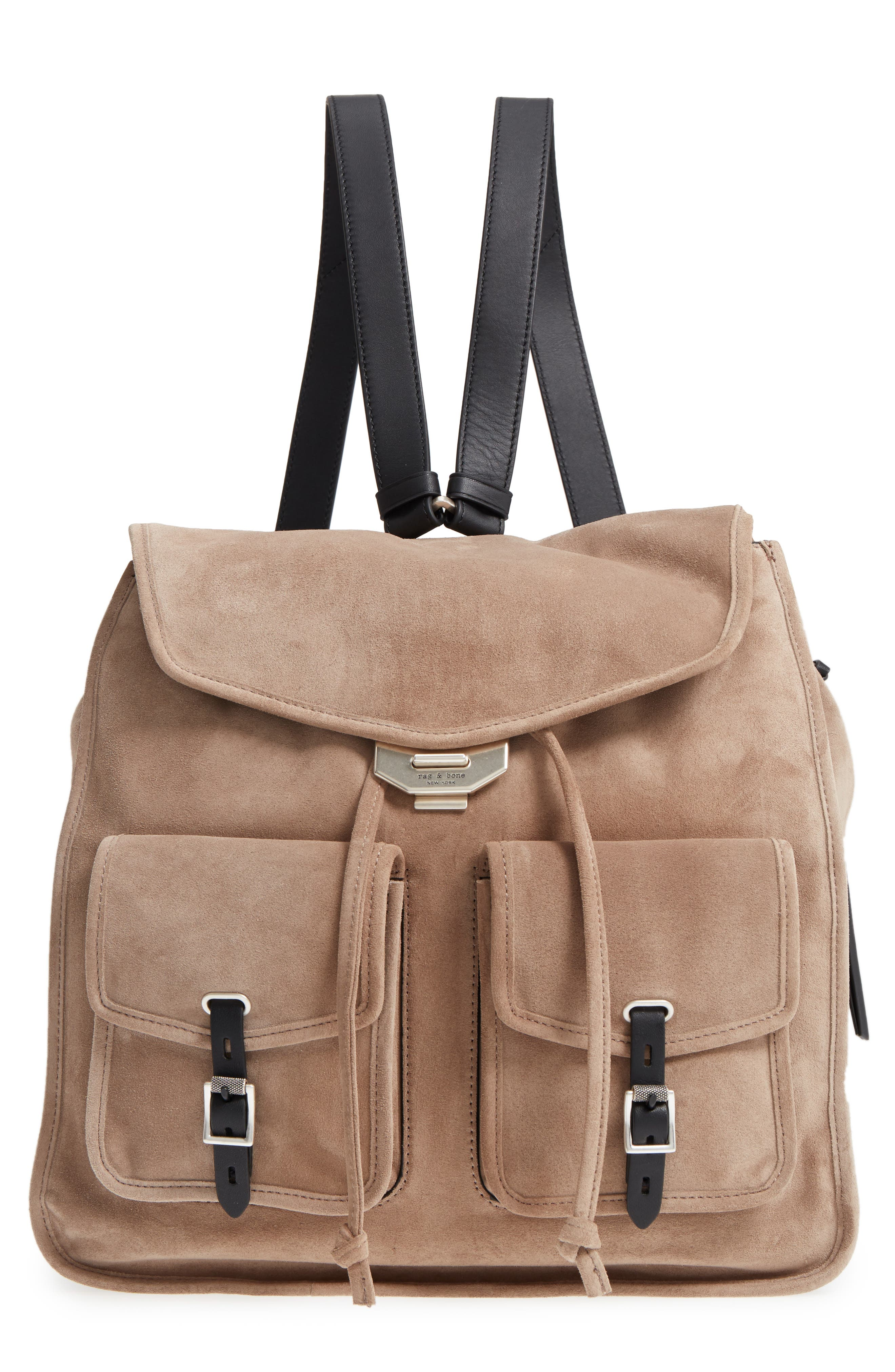 Field Suede & Leather Backpack,                         Main,                         color, Warm Grey Suede